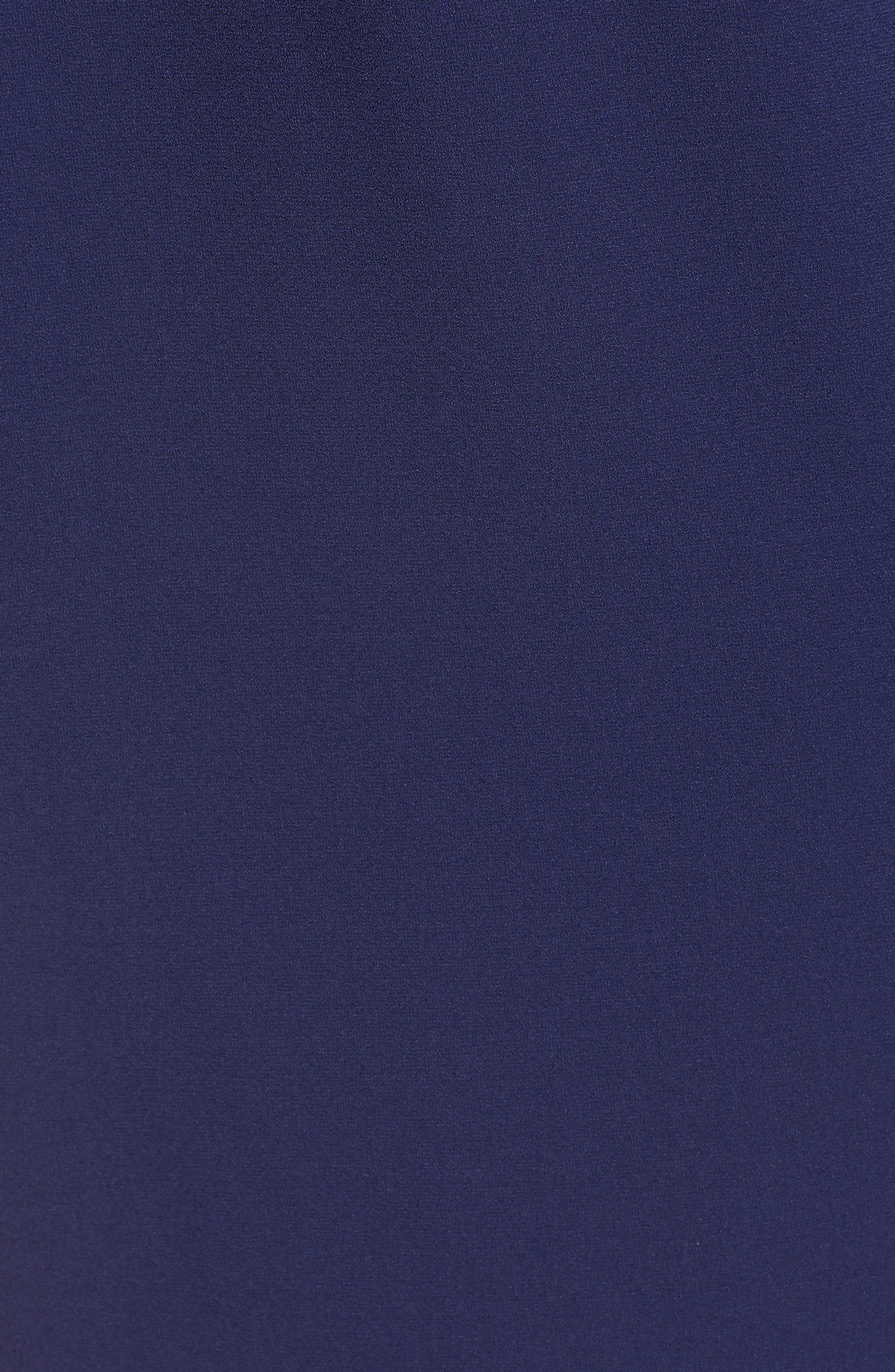 Bow Back Flare Sleeve Dress,                             Alternate thumbnail 6, color,                             410