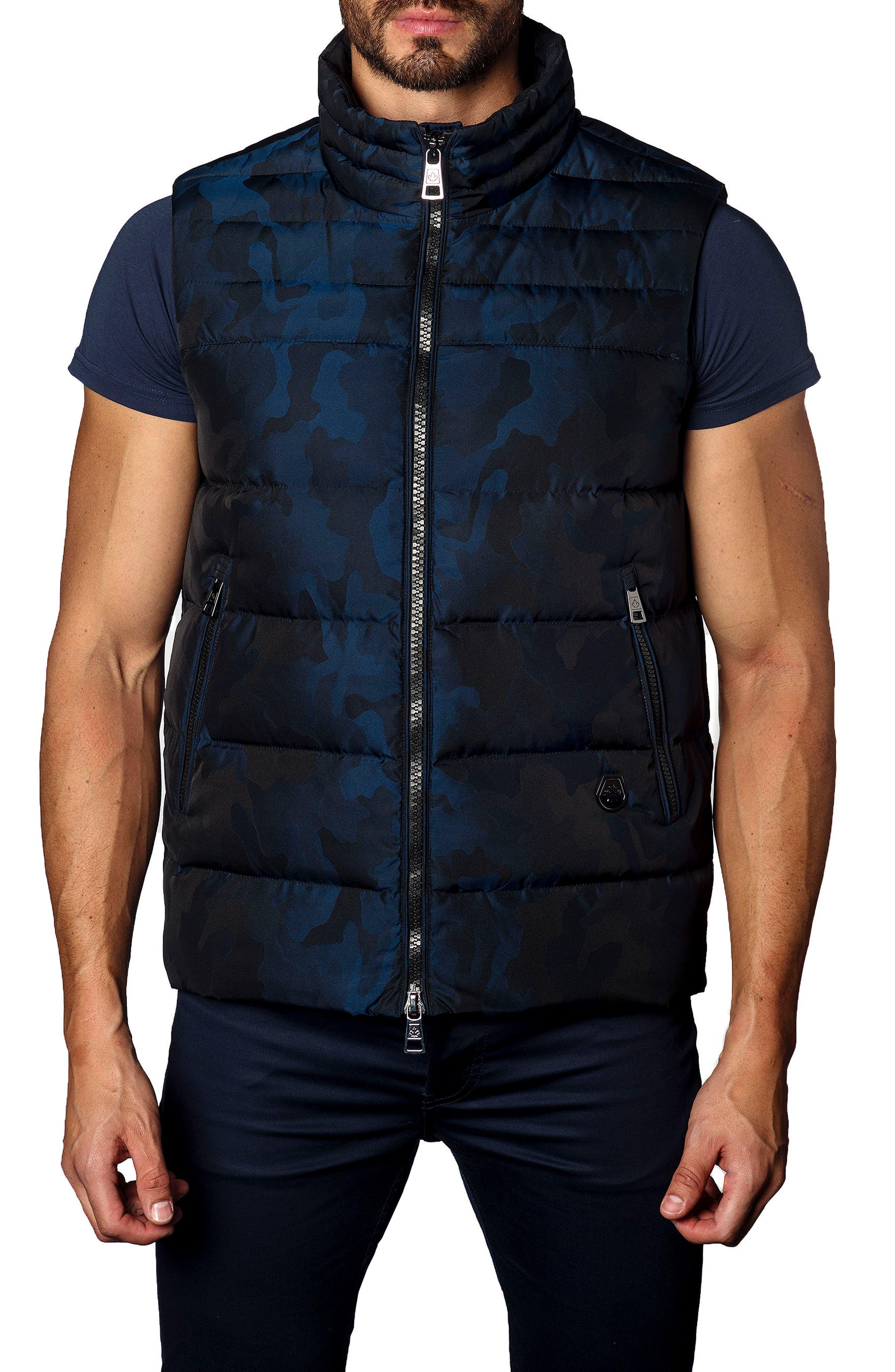Camo Down Puffer Vest,                             Main thumbnail 2, color,