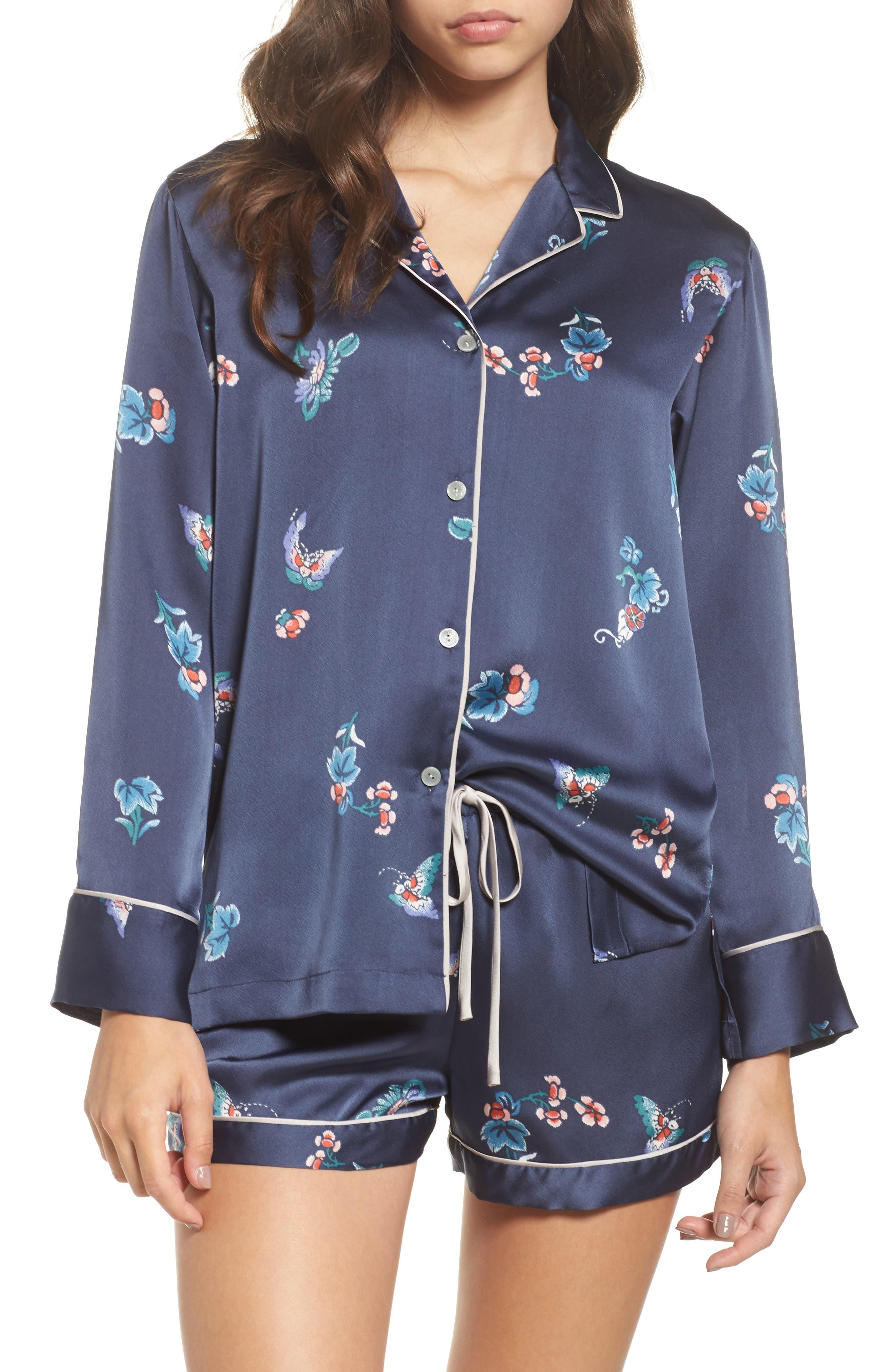 Papillon Print Short Pajamas,                             Main thumbnail 3, color,