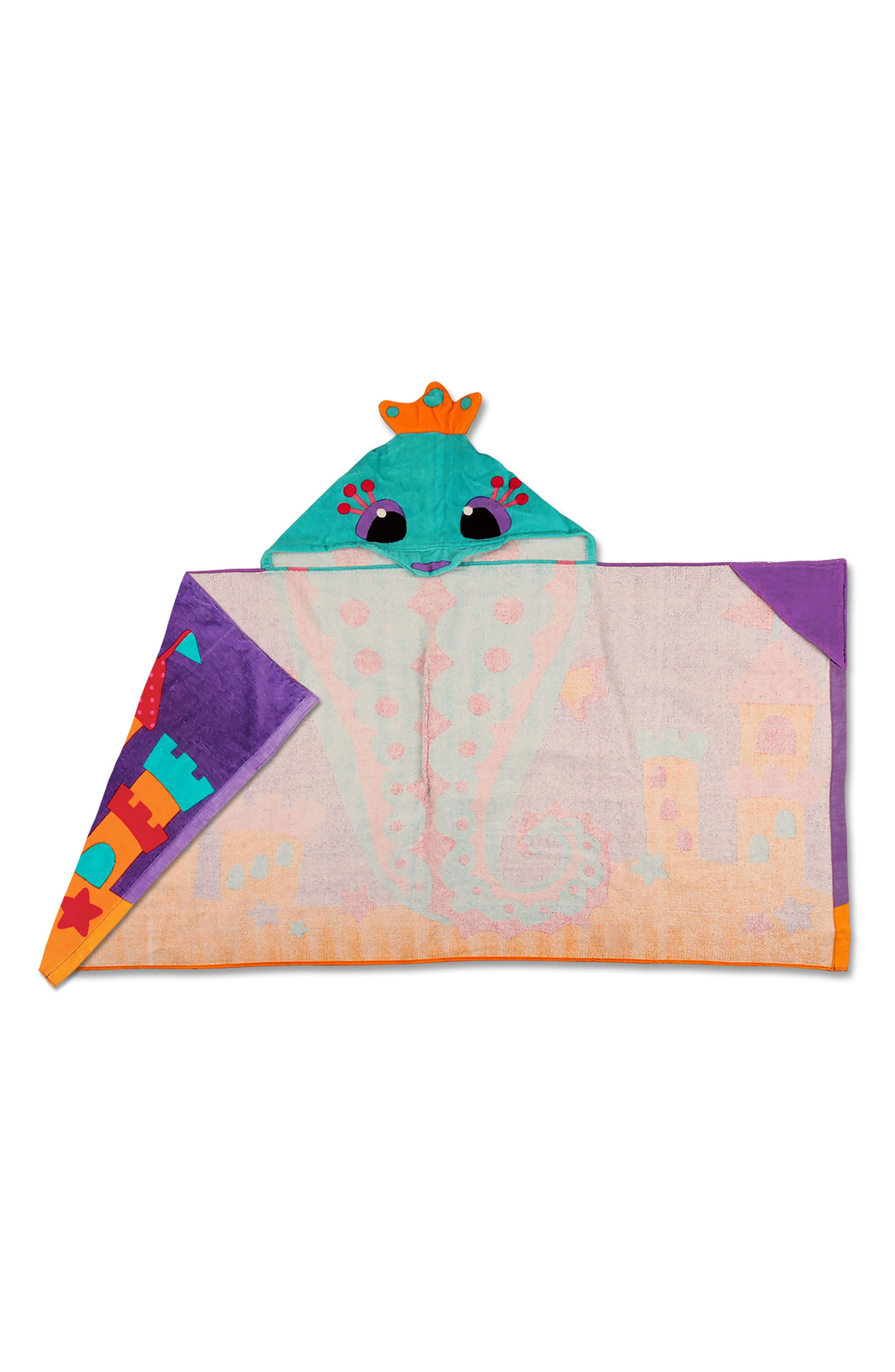 Bag, Hooded Towel & Goggles,                             Alternate thumbnail 7, color,                             PURPLE SEAHORSE