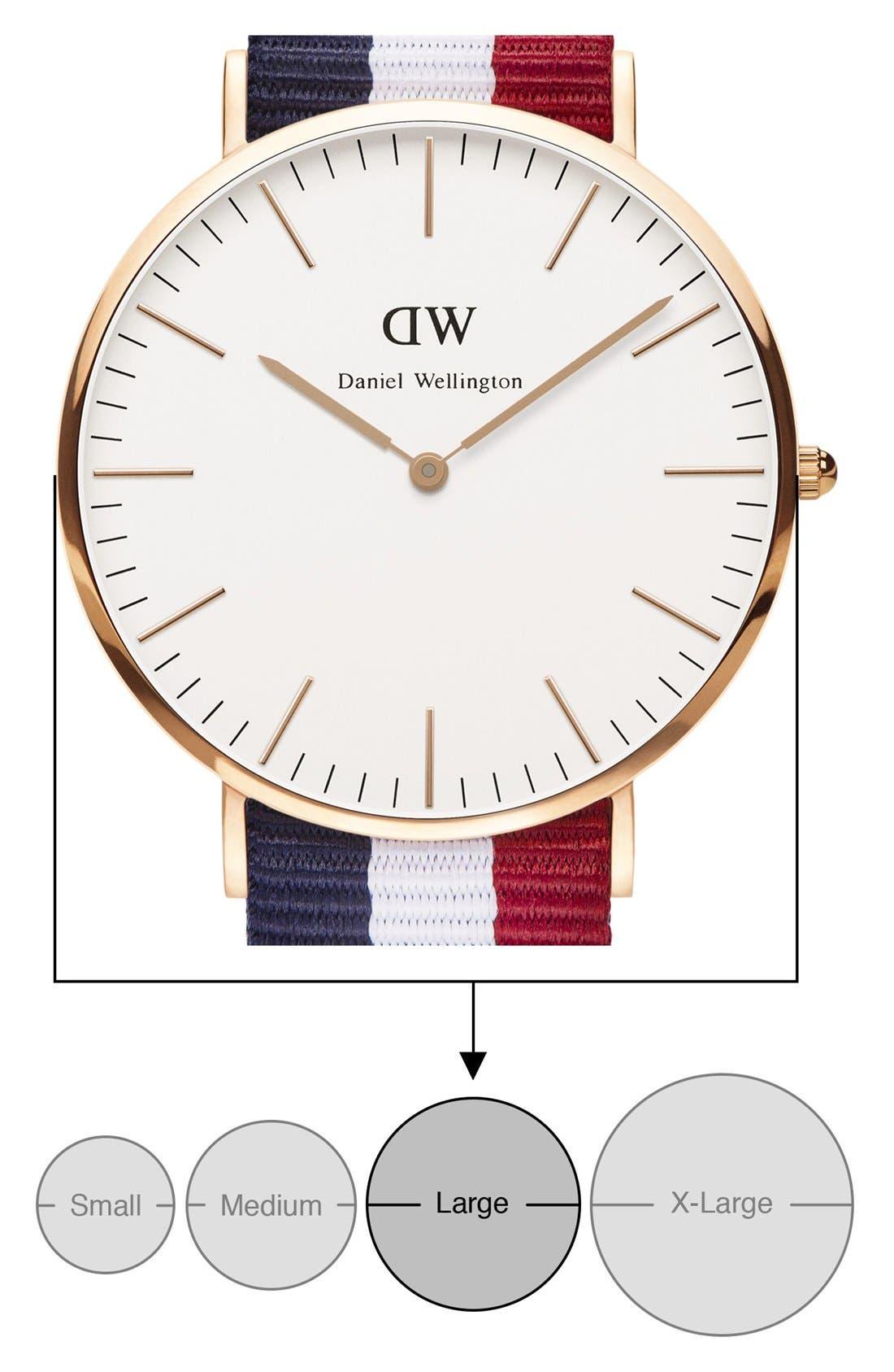 'Classic Cambridge' NATO Strap Watch, 40mm,                             Alternate thumbnail 2, color,                             100