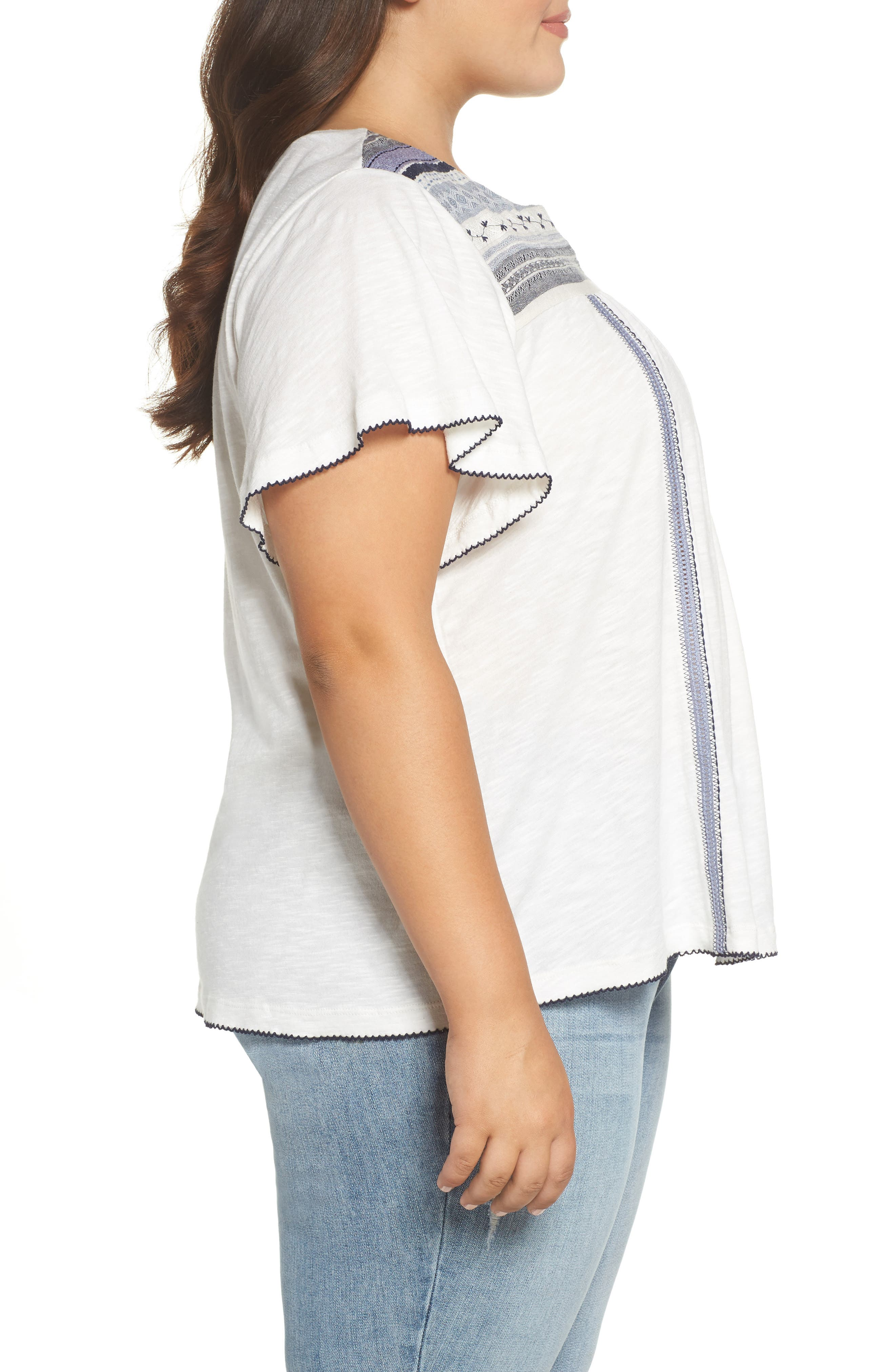 Embroidered Tee,                             Alternate thumbnail 3, color,                             410
