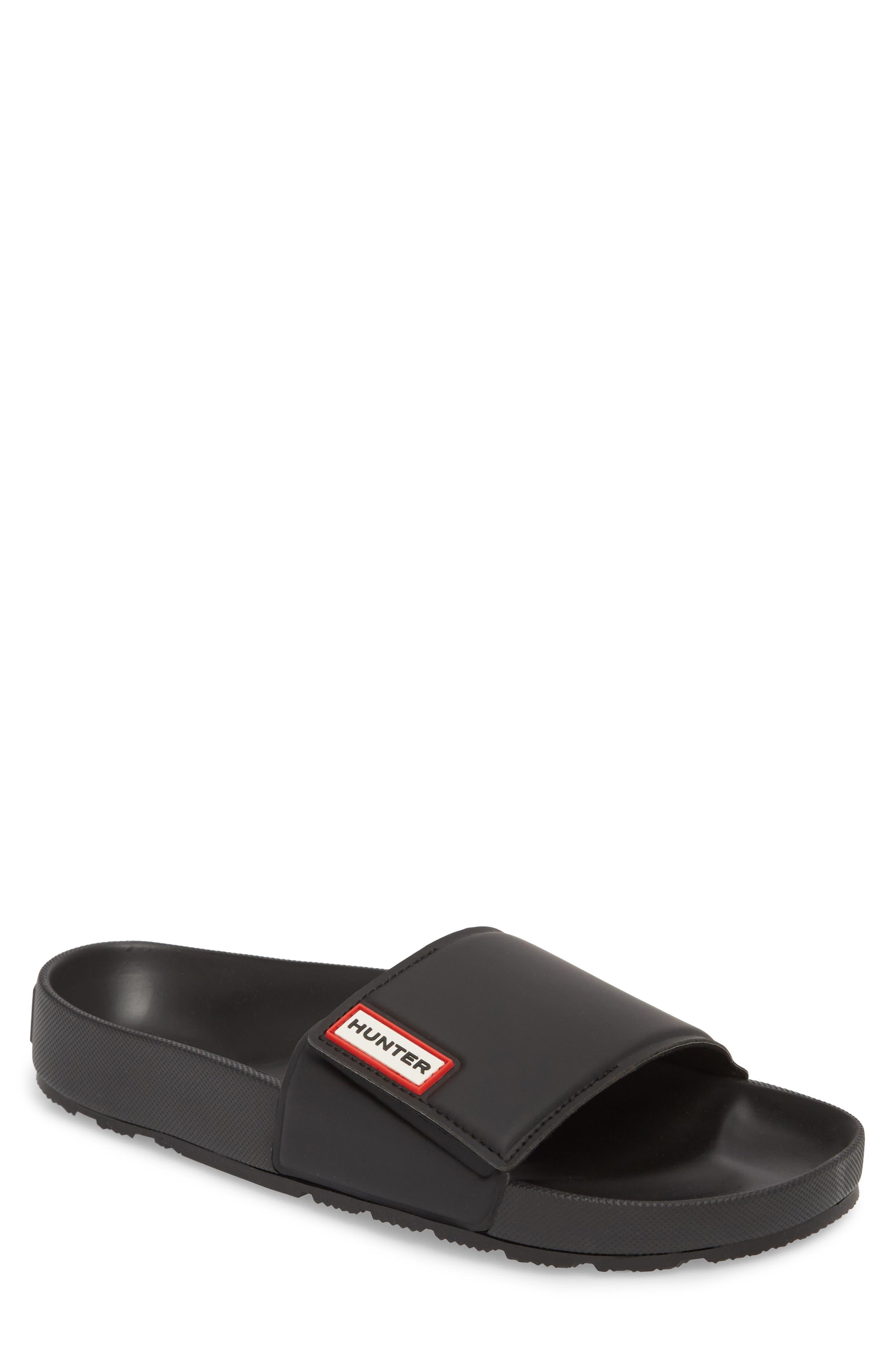 Original Adjustable Slide Sandal,                             Main thumbnail 1, color,                             BLACK