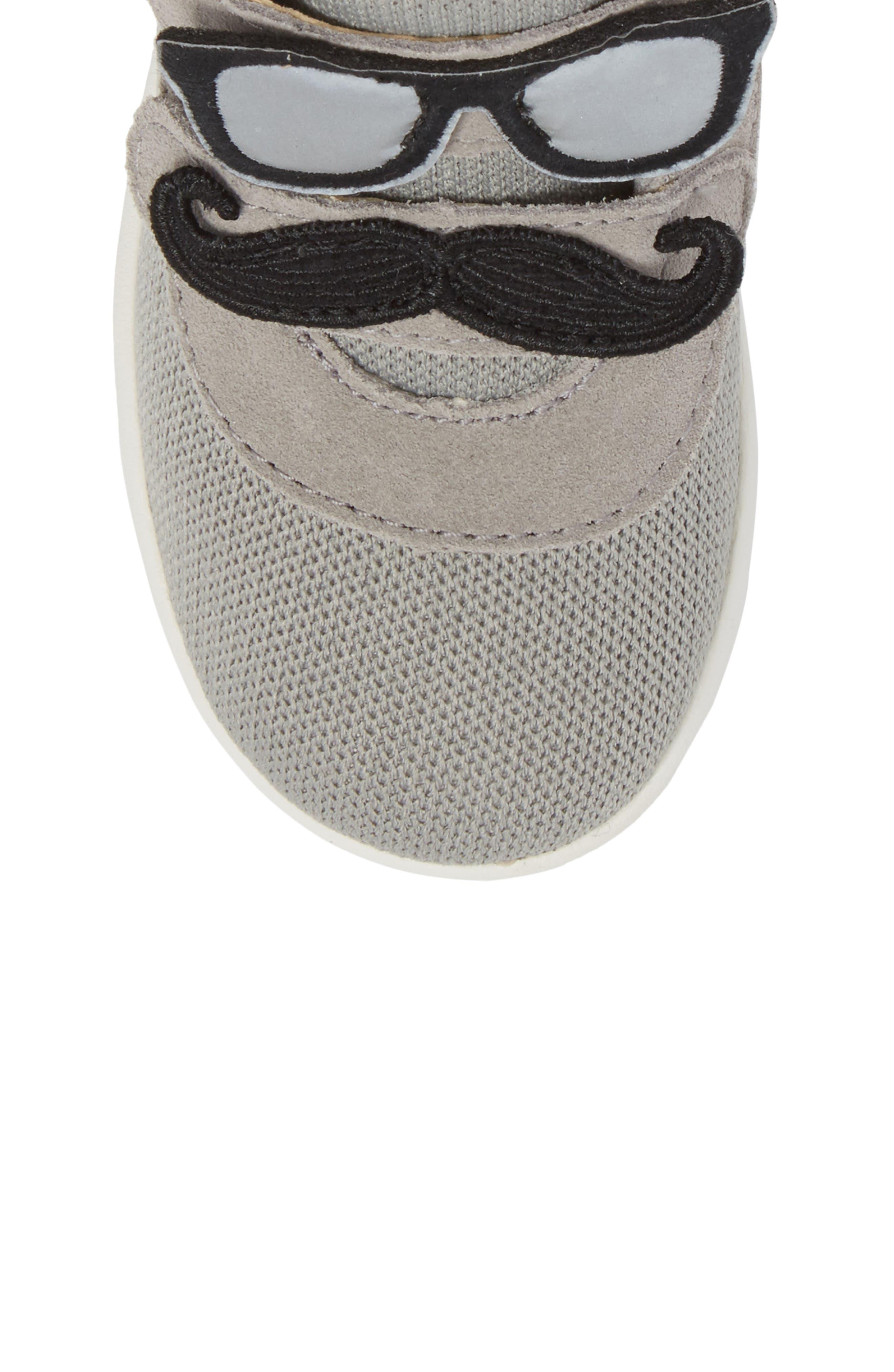 Drex Sunglasses & Mustache Appliqué Sneaker,                             Alternate thumbnail 5, color,                             024