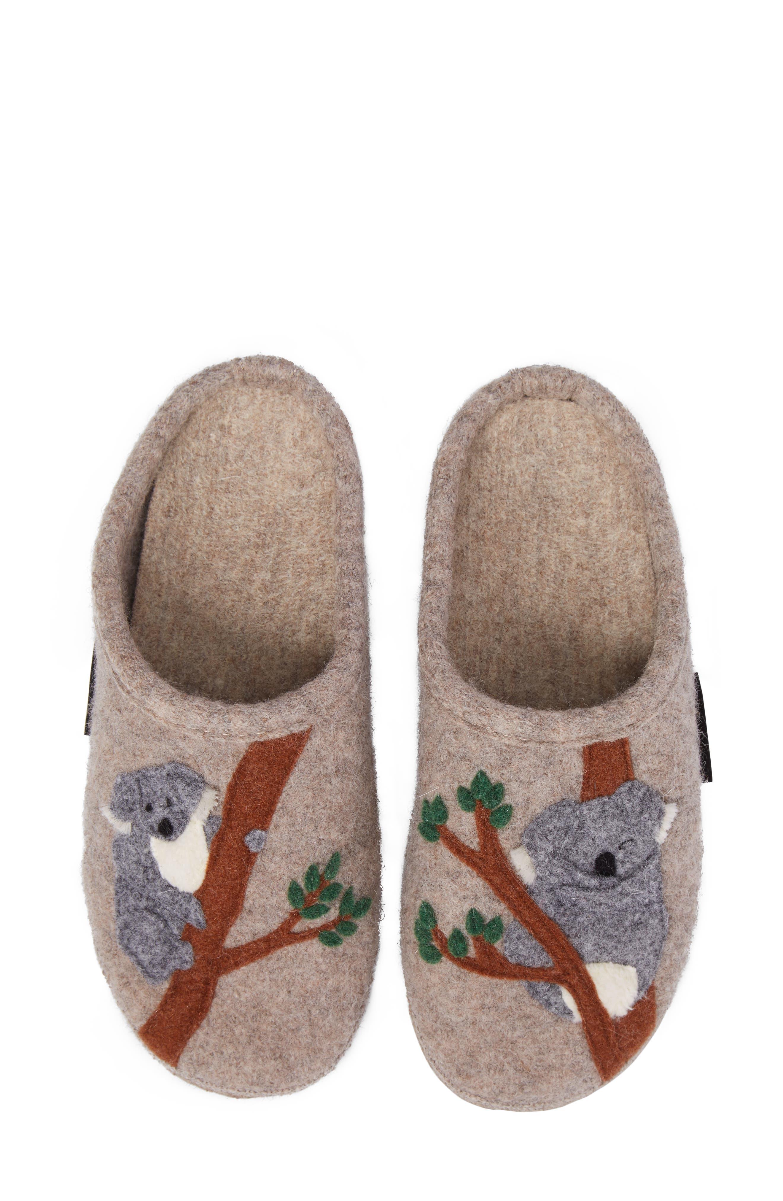 Koala Indoor Boiled Wool Slipper,                             Alternate thumbnail 5, color,                             NATURAL WOOL
