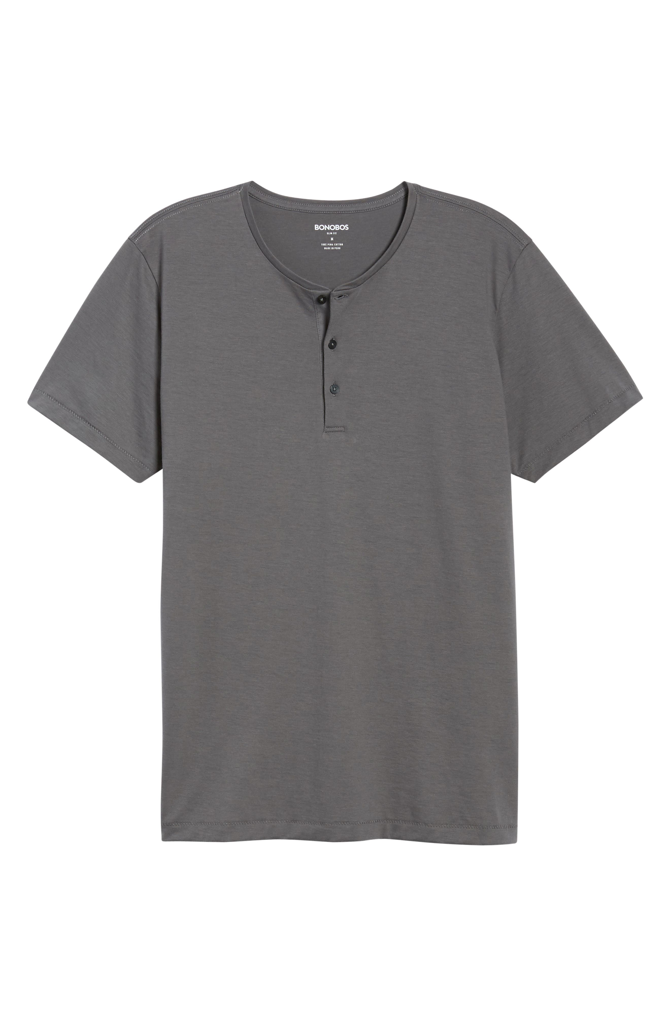 Superfine Henley T-Shirt,                             Alternate thumbnail 6, color,                             020