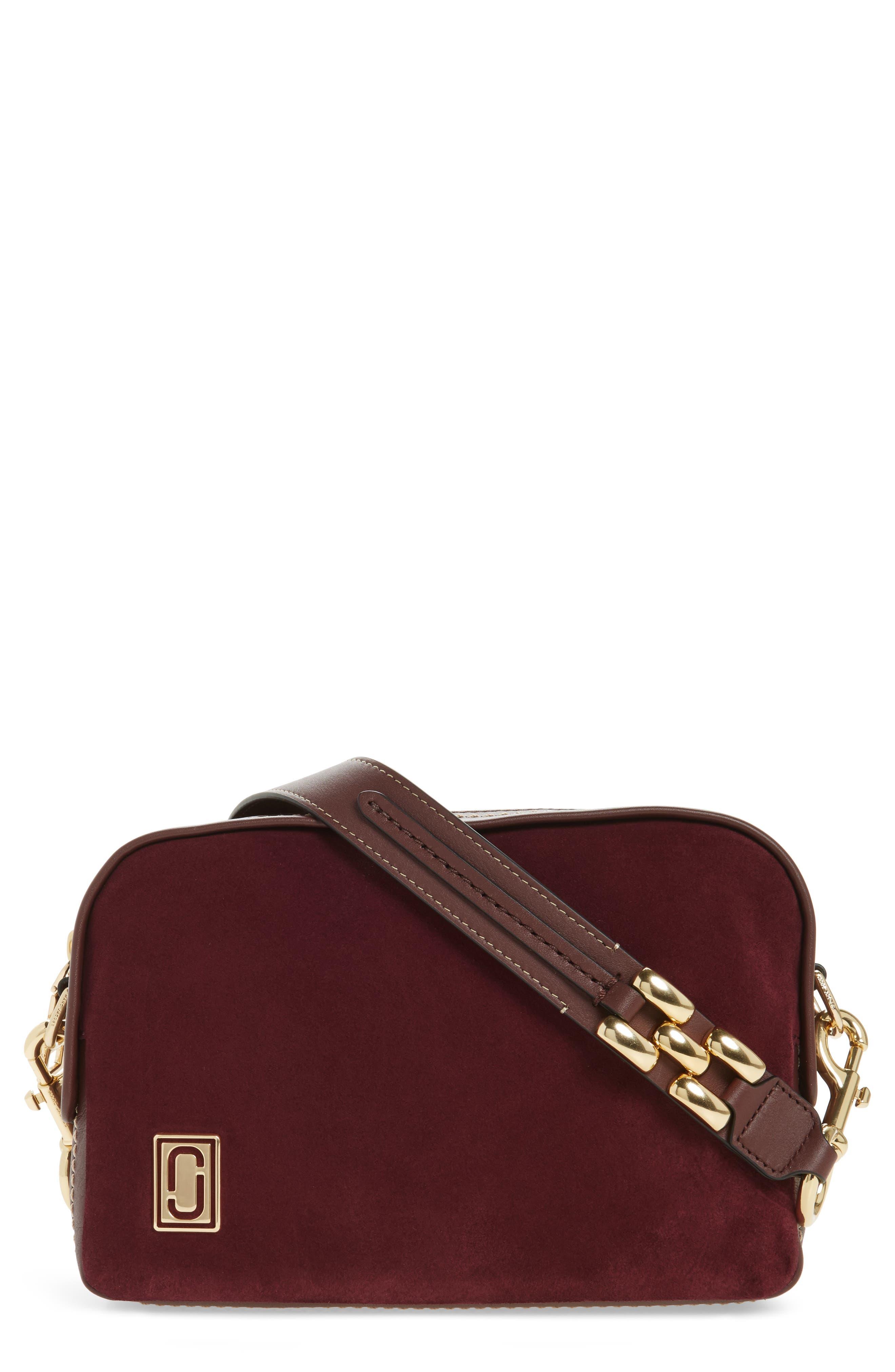 The Squeeze Suede & Leather Shoulder Bag,                             Main thumbnail 3, color,