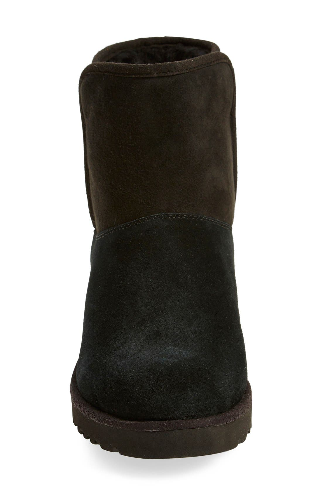 Kristin - Classic Slim<sup>™</sup> Water Resistant Mini Boot,                             Alternate thumbnail 3, color,                             BLACK SUEDE