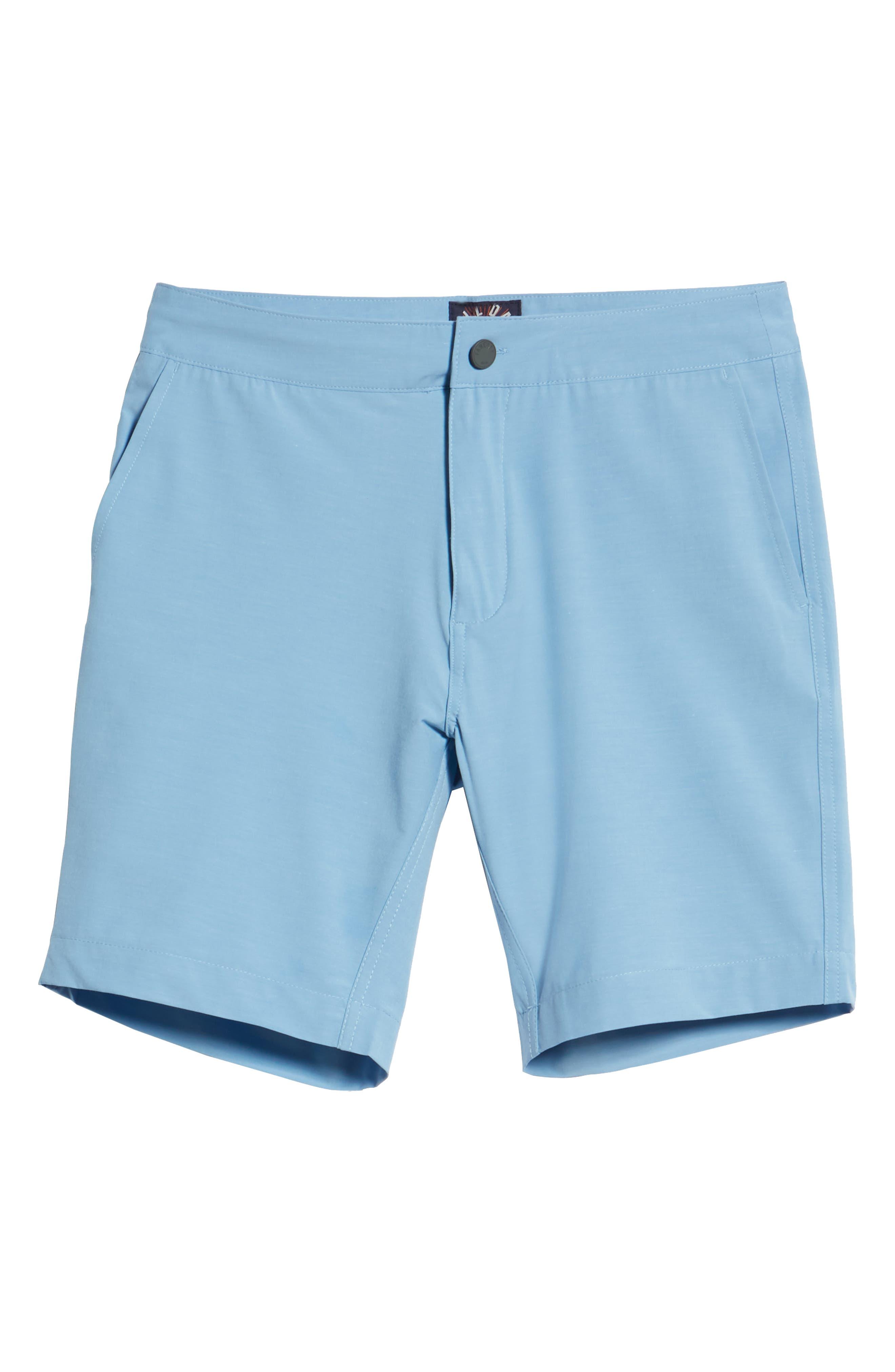 All Day Flat Front Shorts,                             Alternate thumbnail 6, color,                             COASTAL BLUE