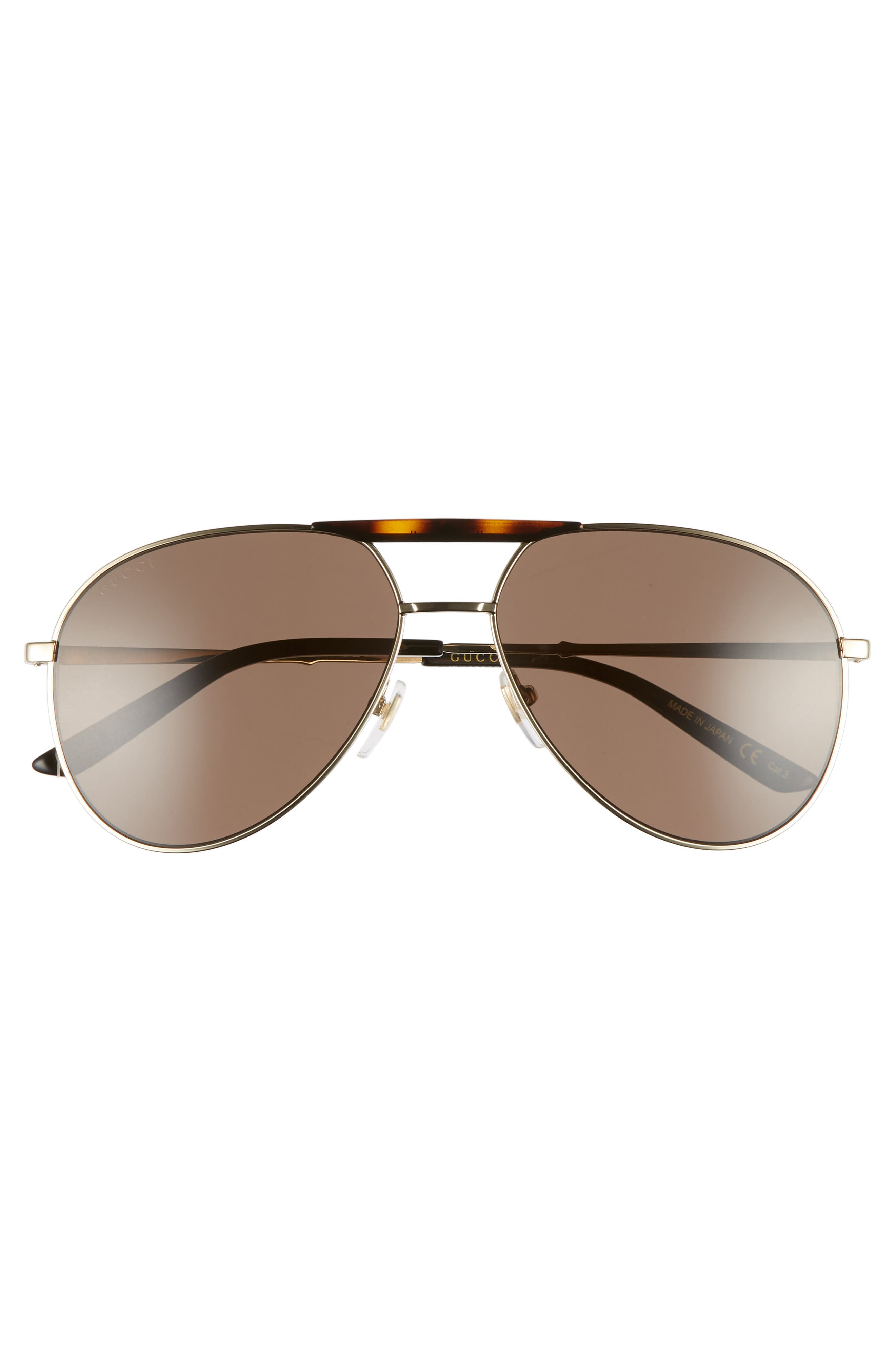 Cruise 59mm Aviator Sunglasses,                             Alternate thumbnail 2, color,                             GOLD/ BLACK