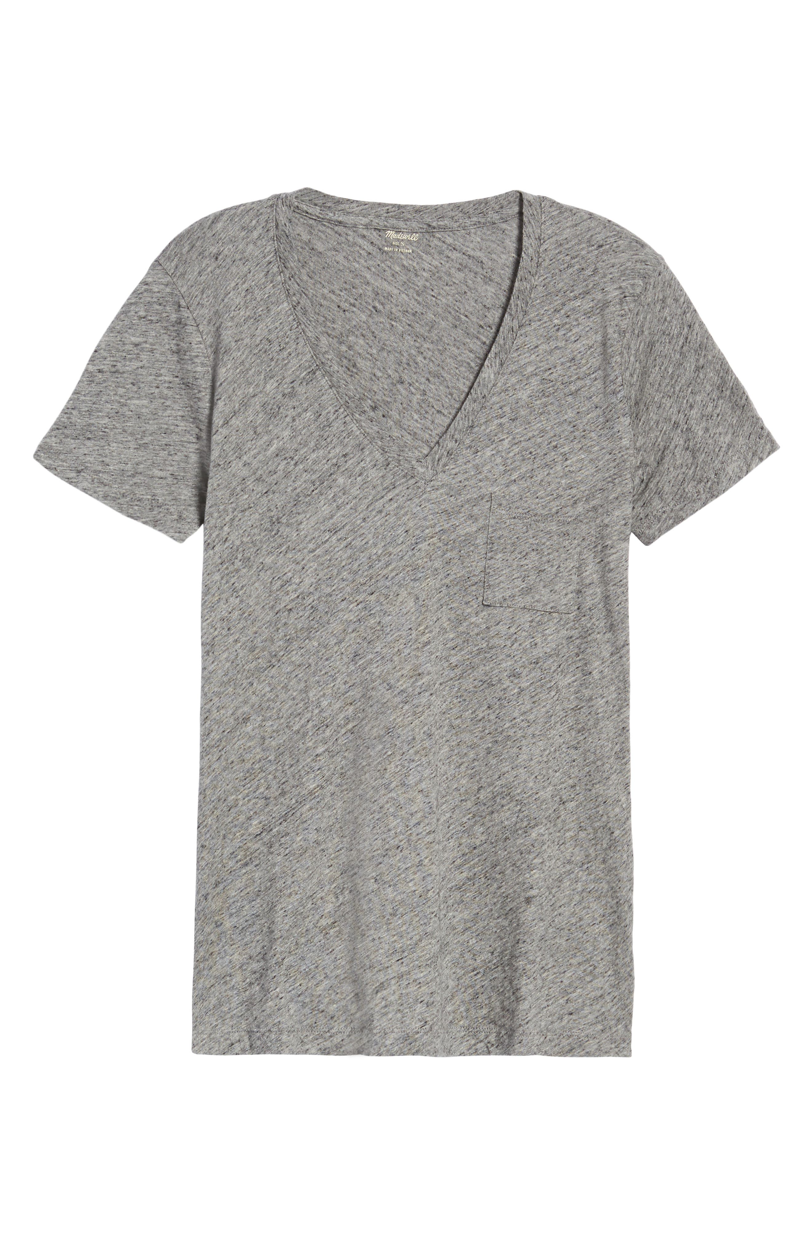 Whisper Cotton V-Neck Pocket Tee,                             Alternate thumbnail 52, color,