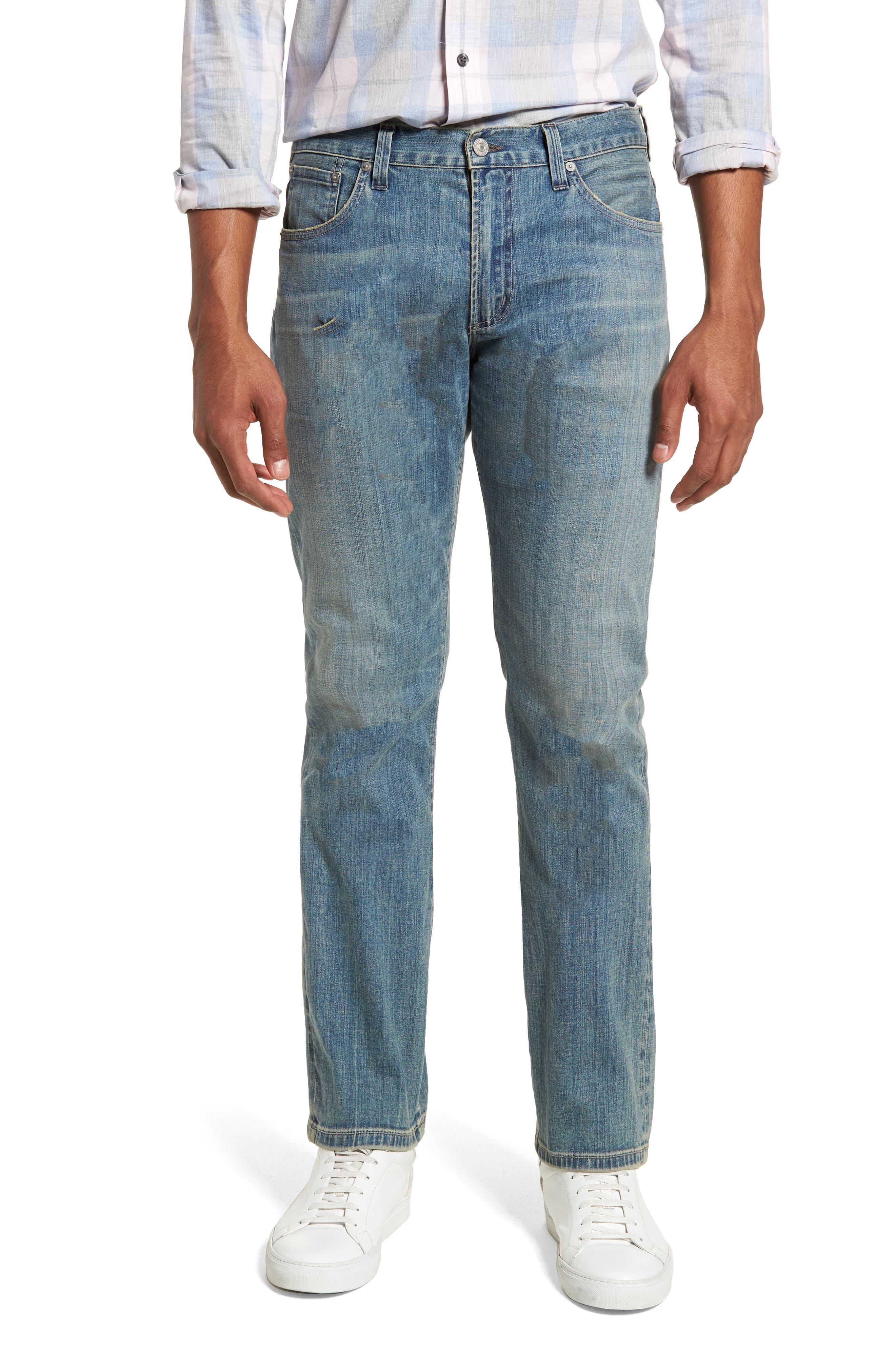 Gage Slim Straight Leg Jeans,                         Main,                         color, ADLER