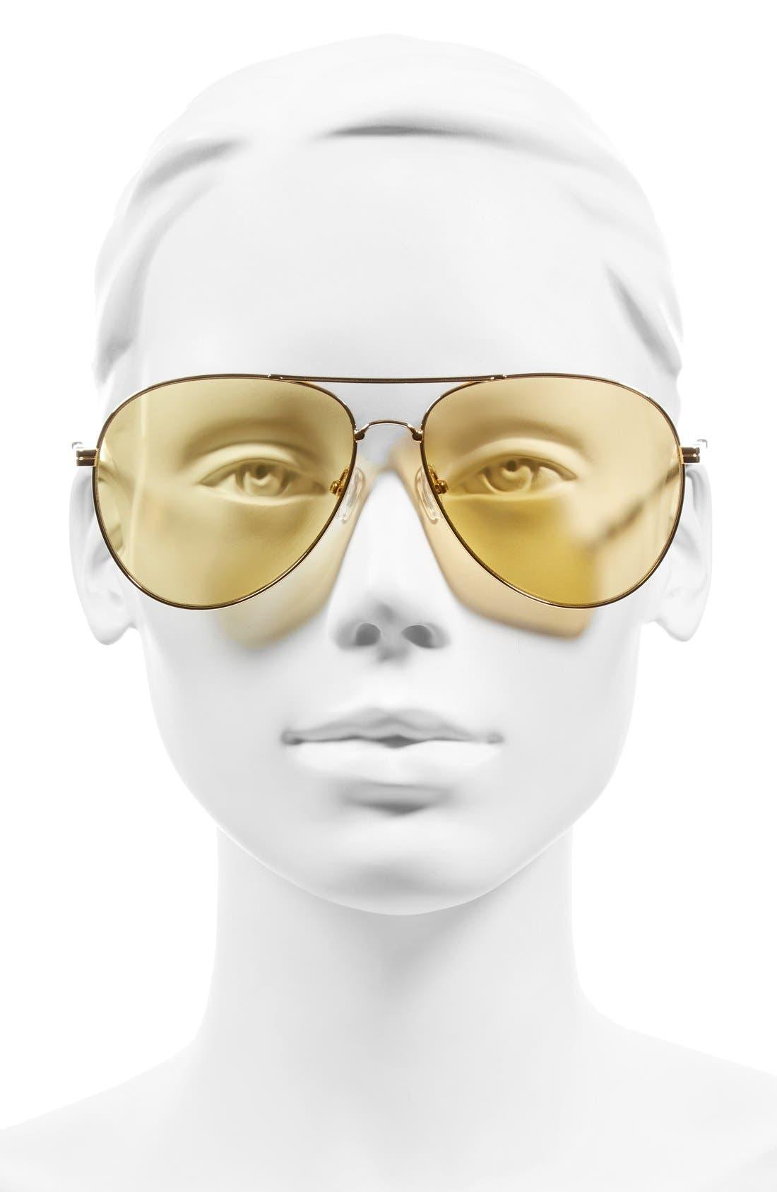 Lodi 62mm Mirrored Aviator Sunglasses,                             Alternate thumbnail 34, color,