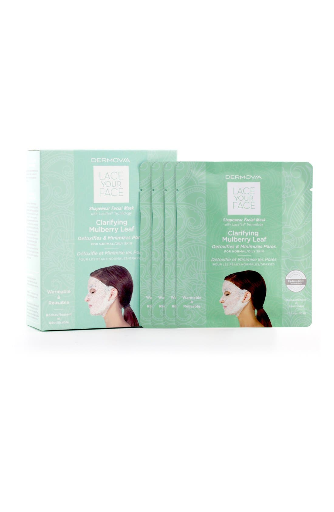 Lace Your Face Clarifying Mulberry Leaf Compression Facial Mask,                             Alternate thumbnail 3, color,                             NONE
