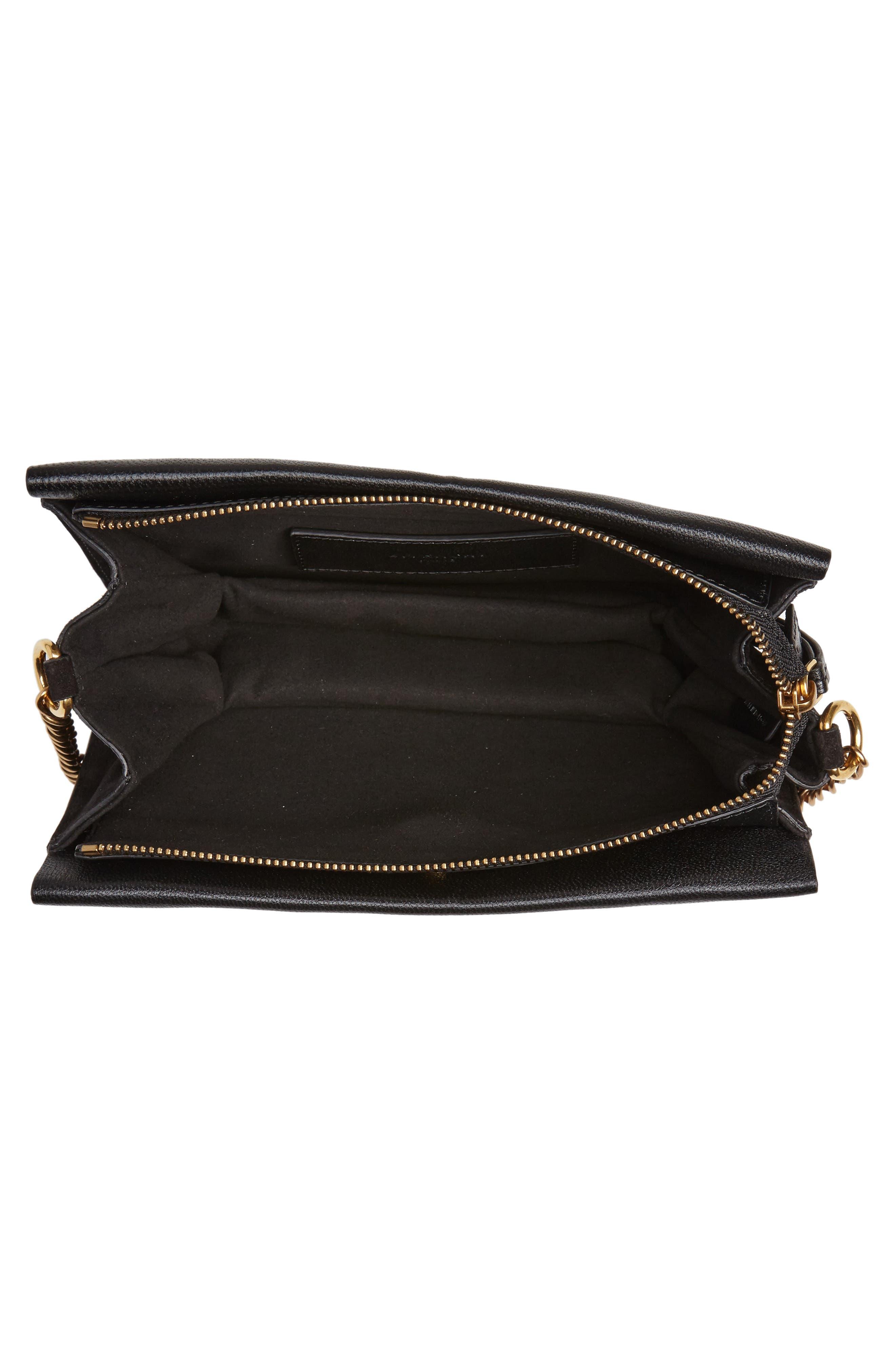 Cross 3 Leather Crossbody Bag,                             Alternate thumbnail 4, color,                             BLACK