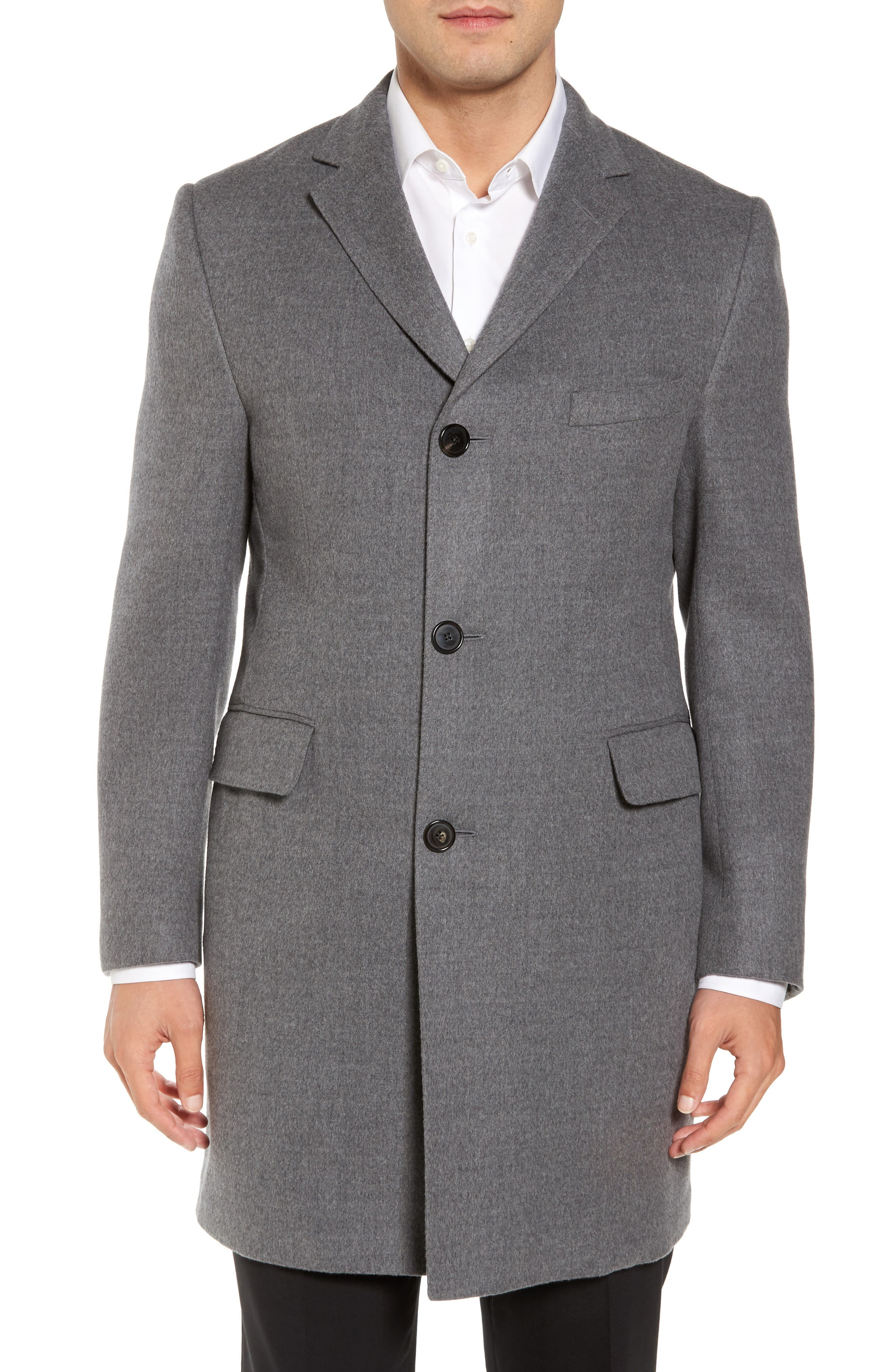 Classic Fit Wool Topcoat,                             Main thumbnail 1, color,                             020