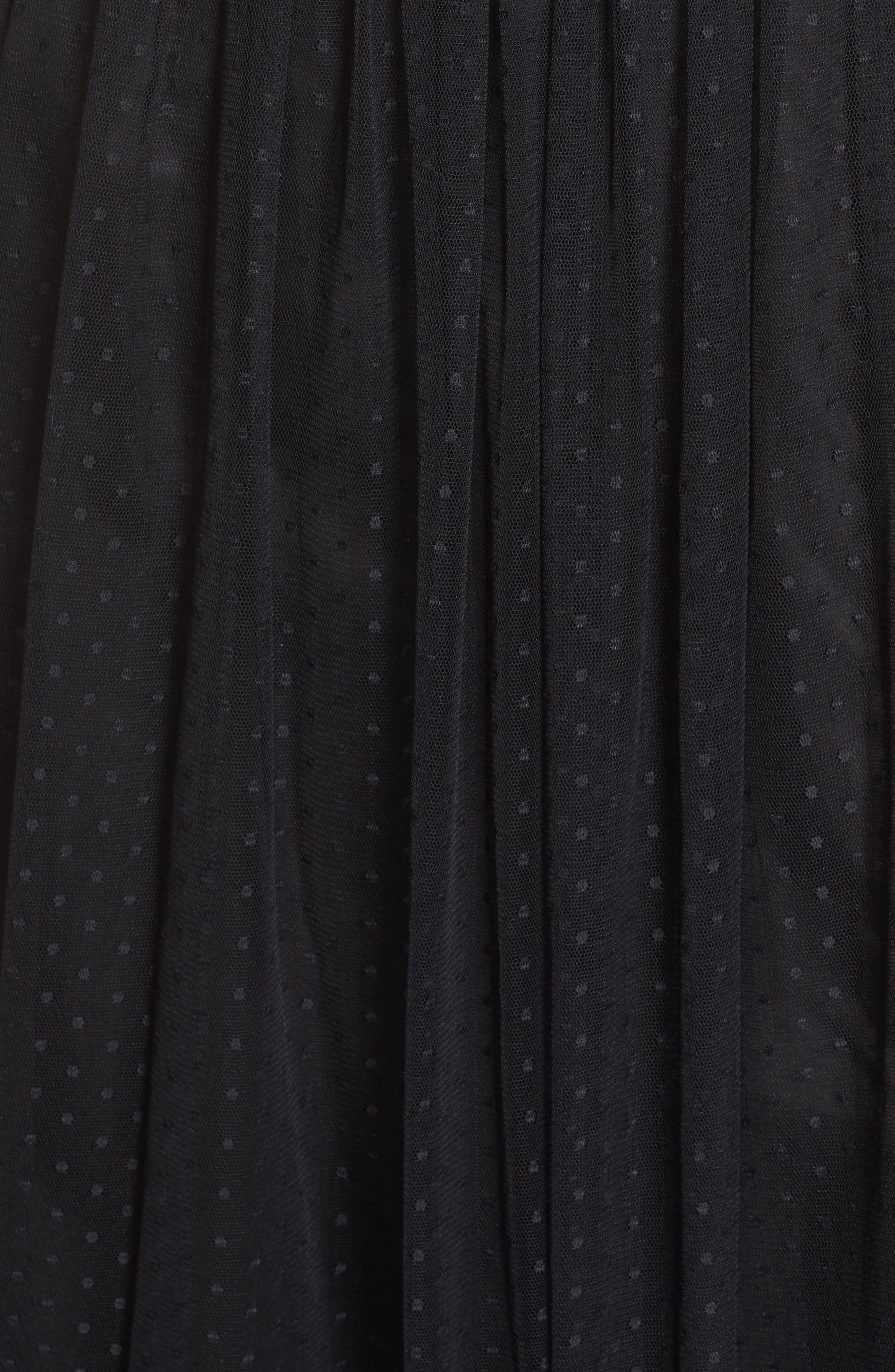 Ribbon Bodice Point d'Esprit Gown,                             Alternate thumbnail 5, color,                             002