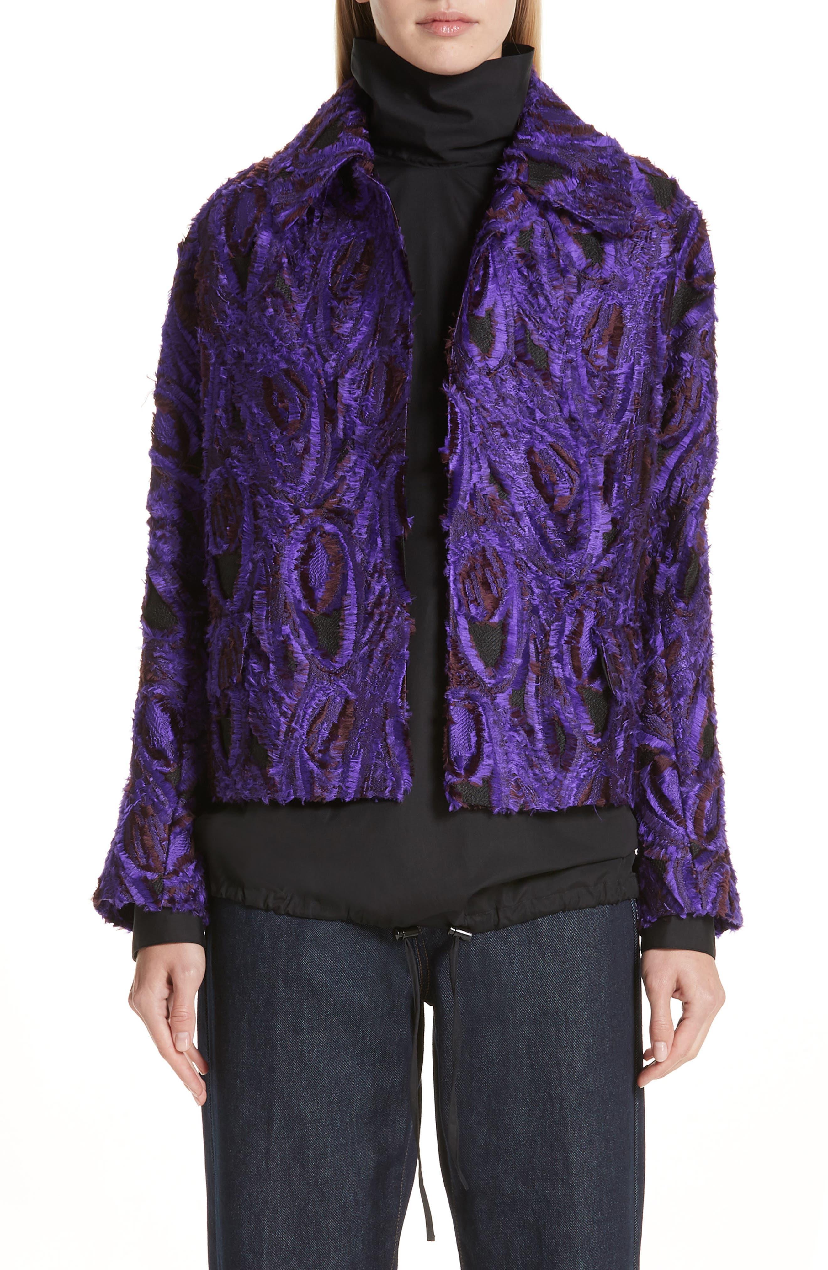 Peacock 3D Jacquard Jacket,                             Main thumbnail 1, color,                             500