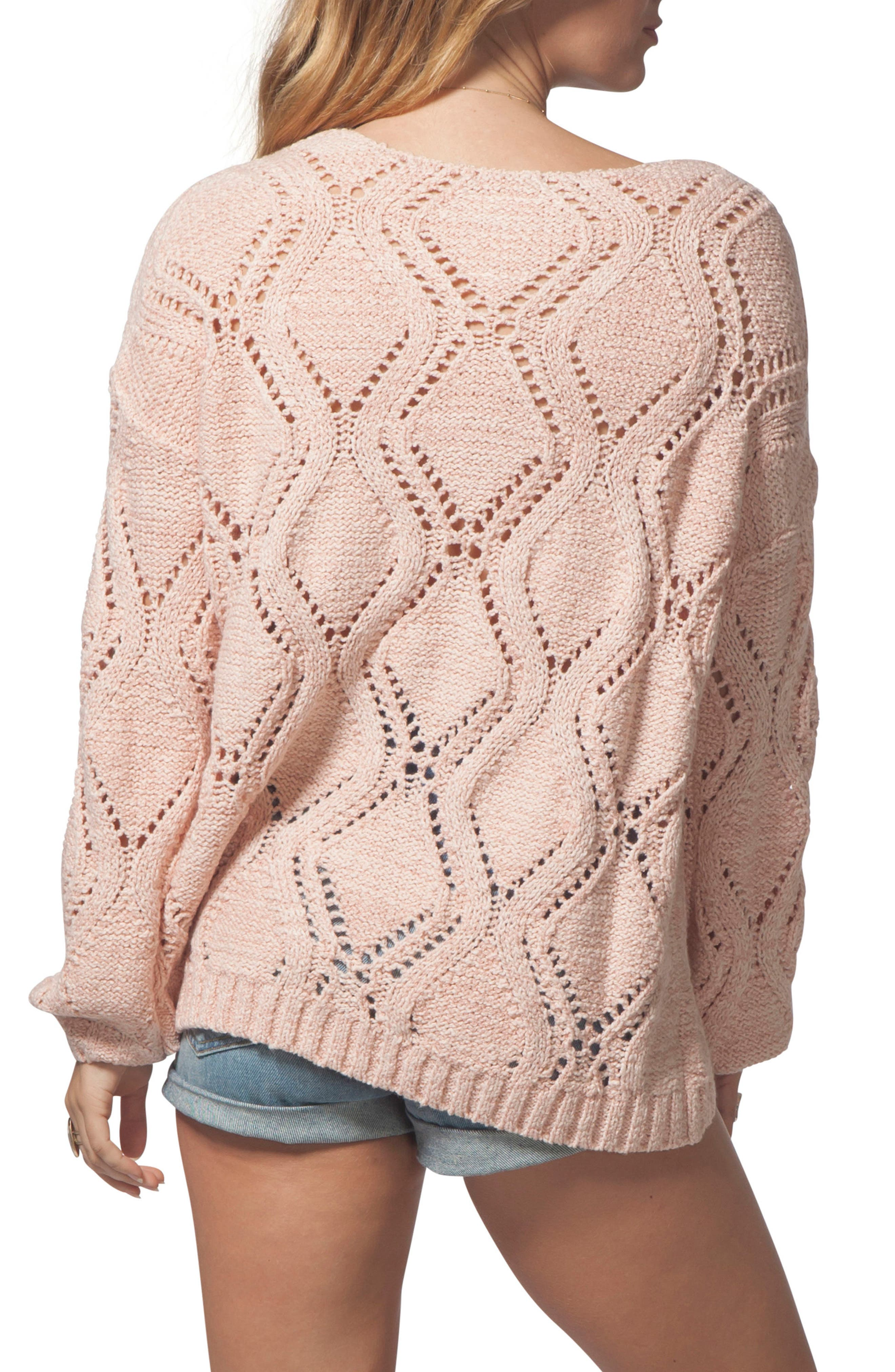 Love Spell Sweater,                             Alternate thumbnail 2, color,                             CORAL