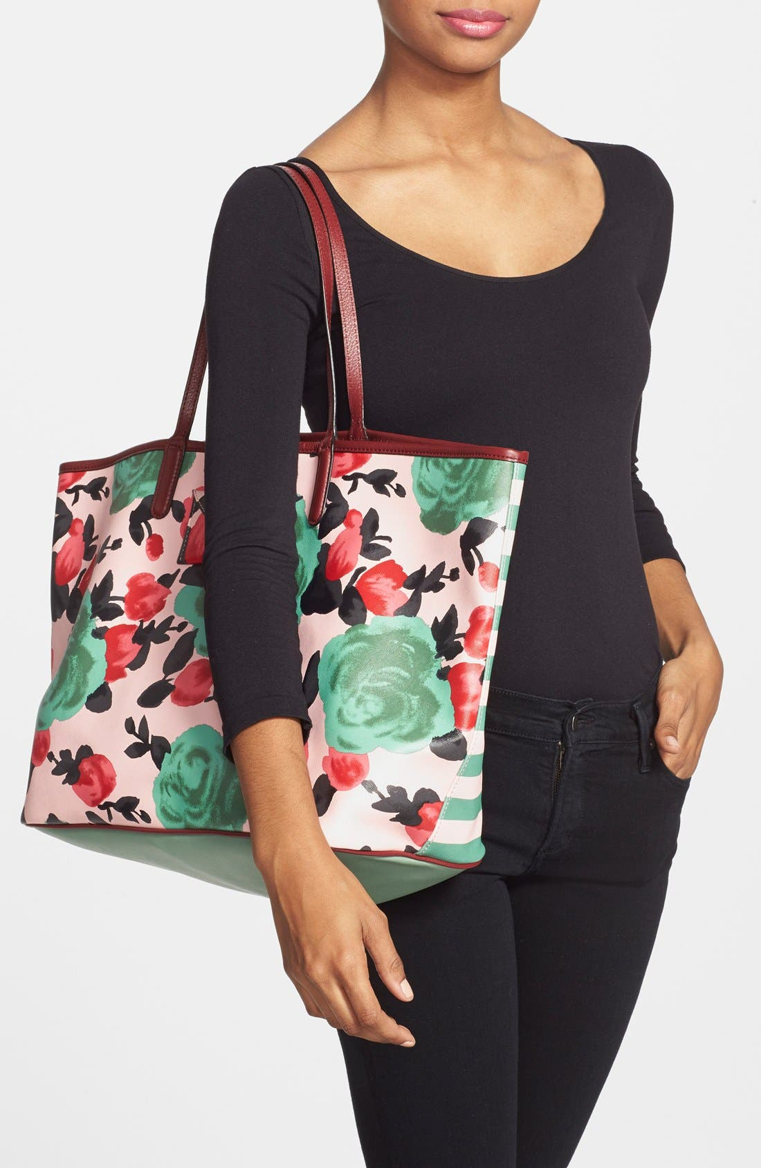 MARC JACOBS,                             MARC BY MARC JACOBS Large Beach Tote,                             Alternate thumbnail 4, color,                             650