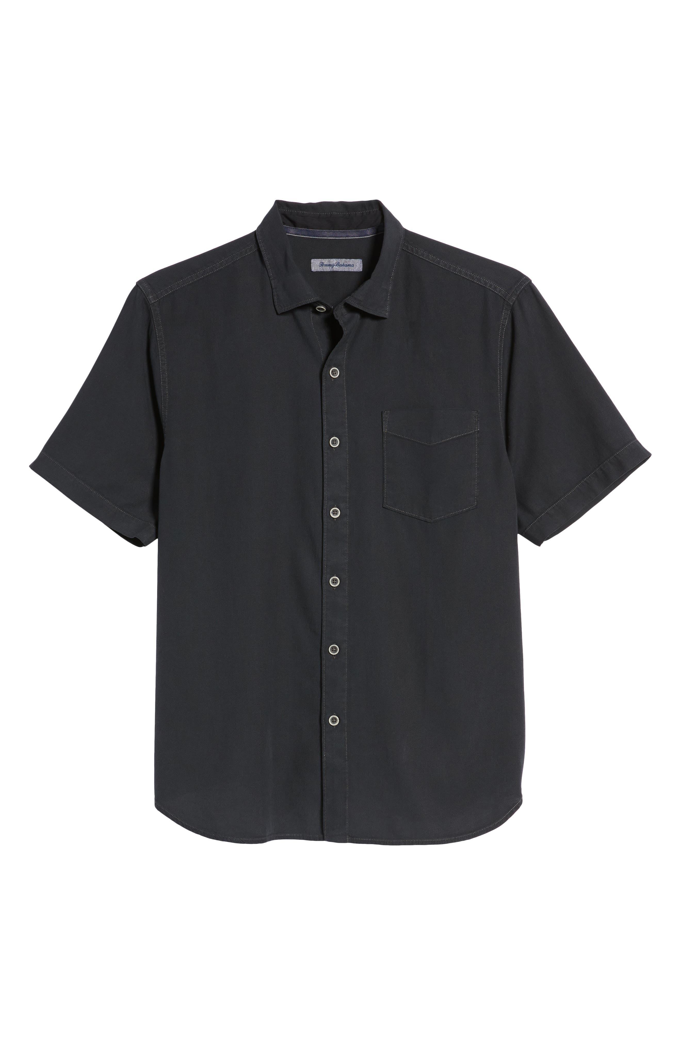 Dobby Dylan Sport Shirt,                             Alternate thumbnail 6, color,                             BLACK