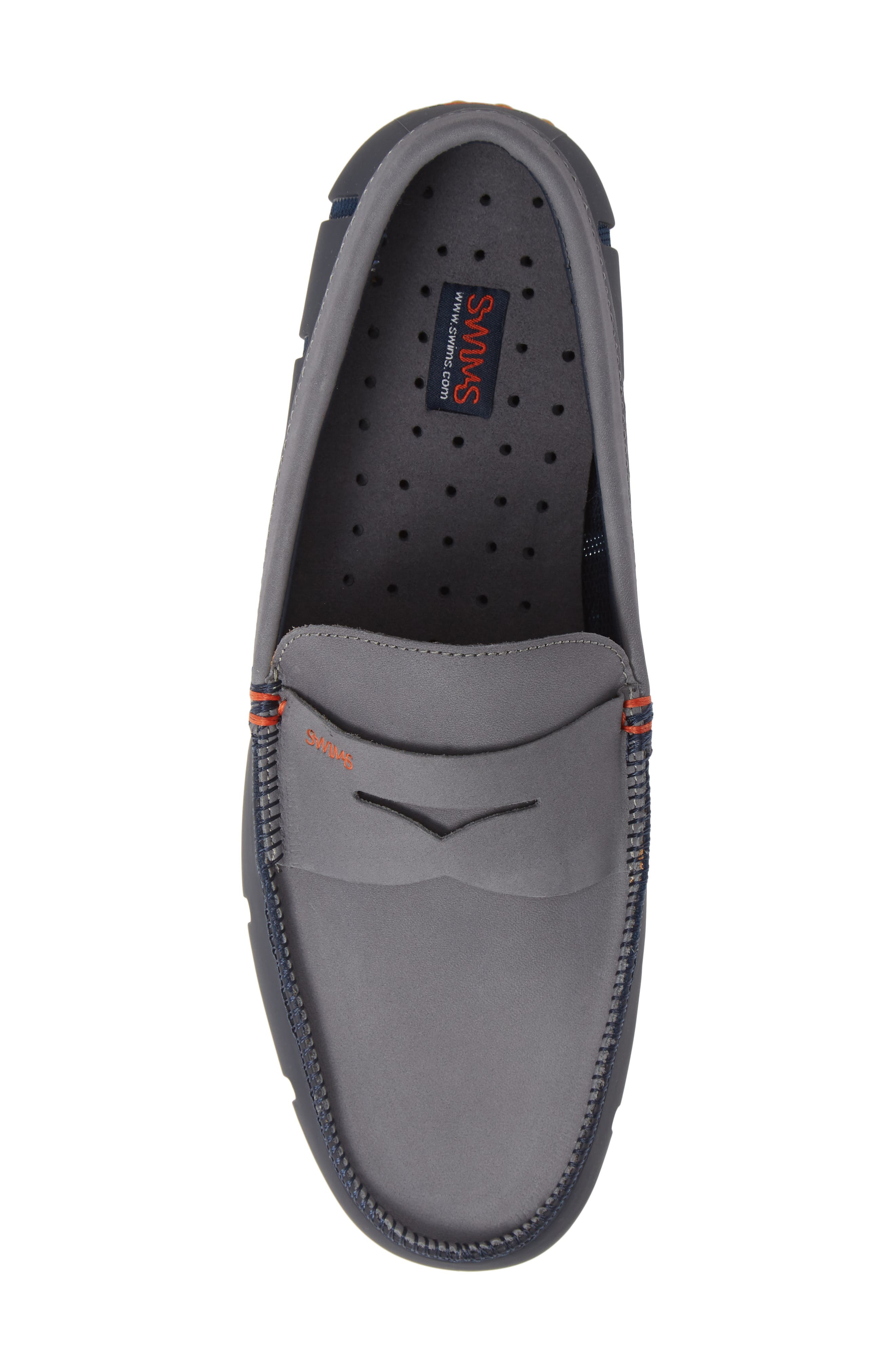 Lux Penny Loafer,                             Alternate thumbnail 5, color,                             NAVY/ GRAY/ GUM