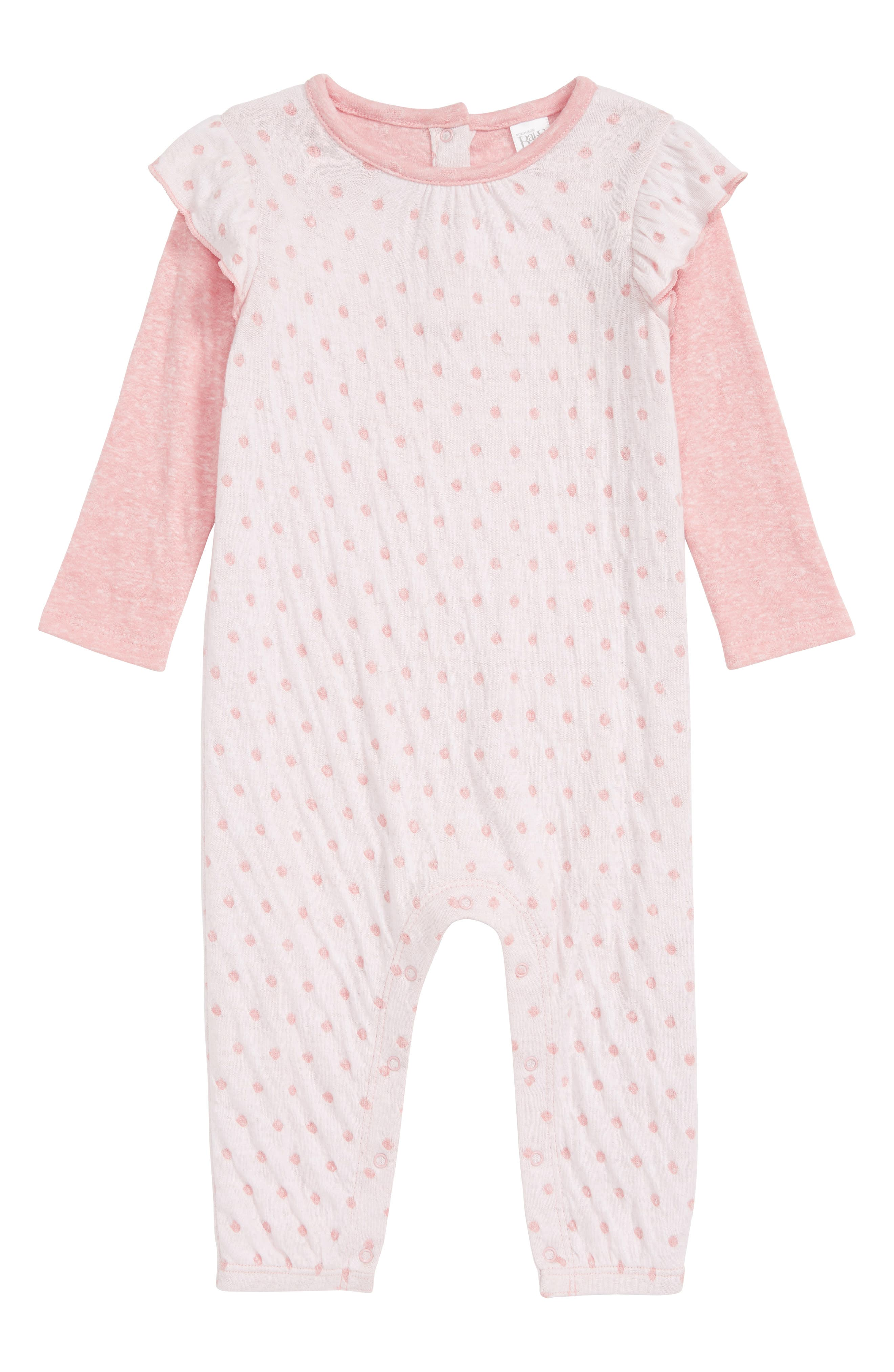 NORDSTROM BABY 2-Fer Coveralls, Main, color, 680