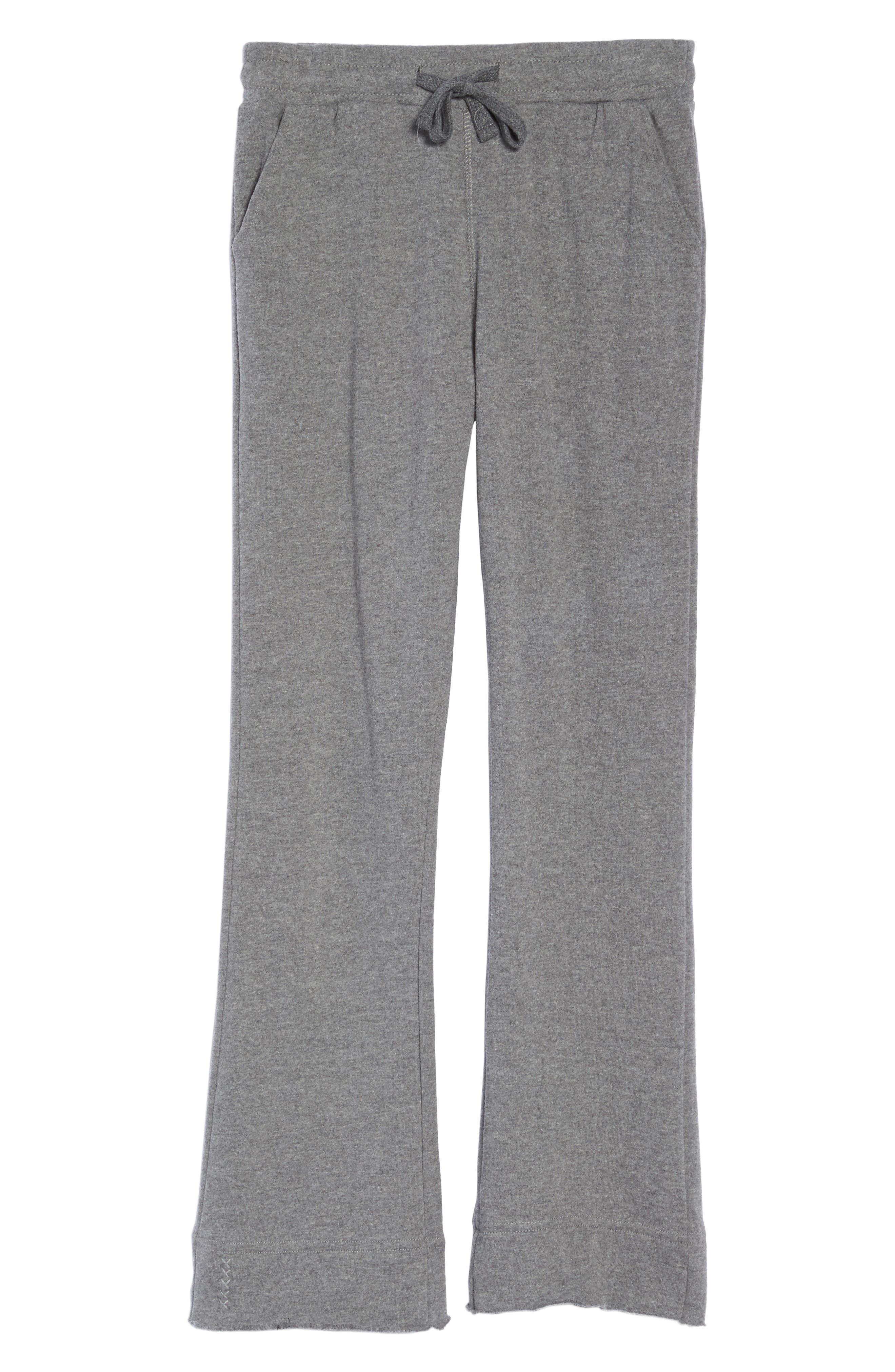 Crop Flare Sweatpants,                             Alternate thumbnail 6, color,                             020
