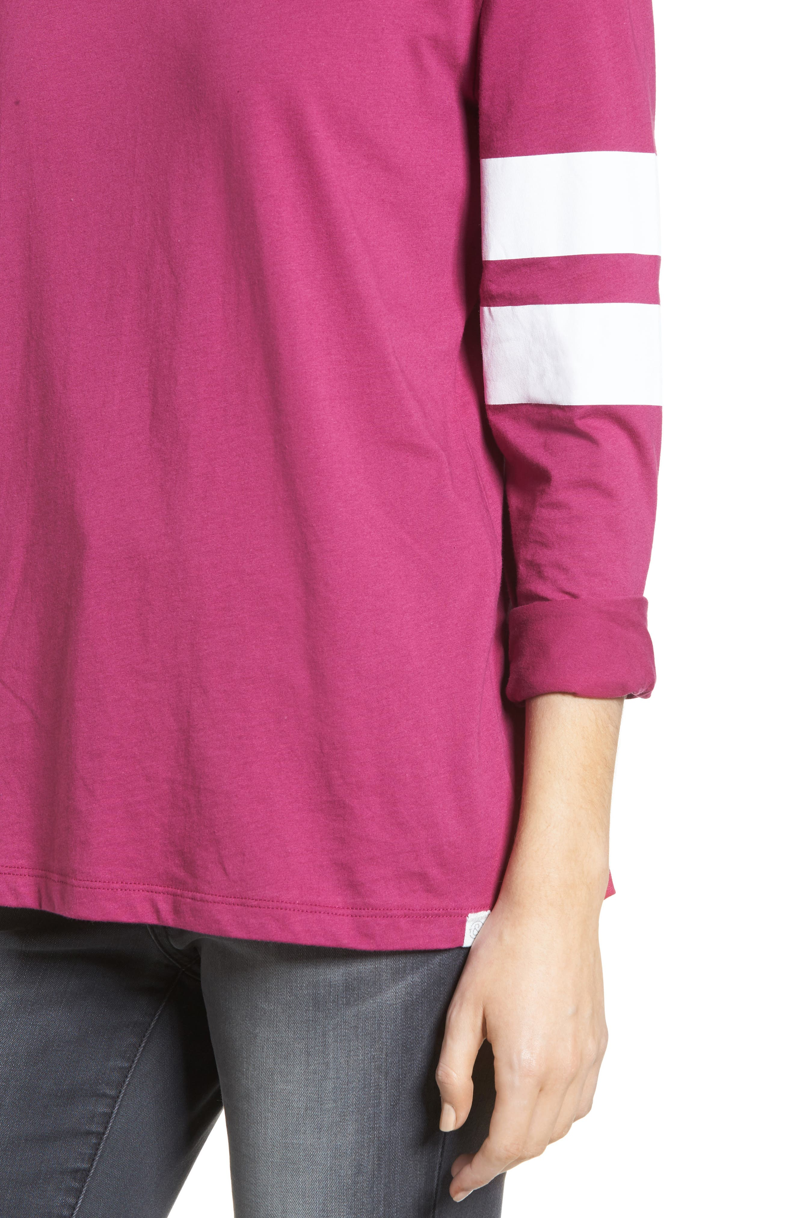 Varsity Stripe Cotton Tee,                             Alternate thumbnail 77, color,