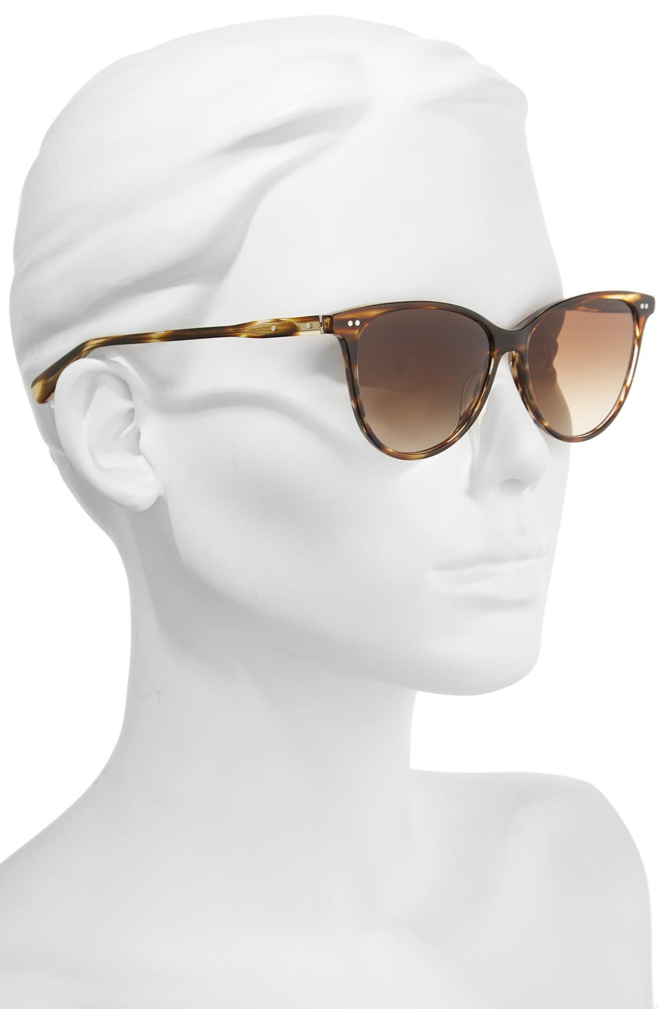 The Patton 55mm Gradient Cat Eye Sunglasses,                             Alternate thumbnail 6, color,