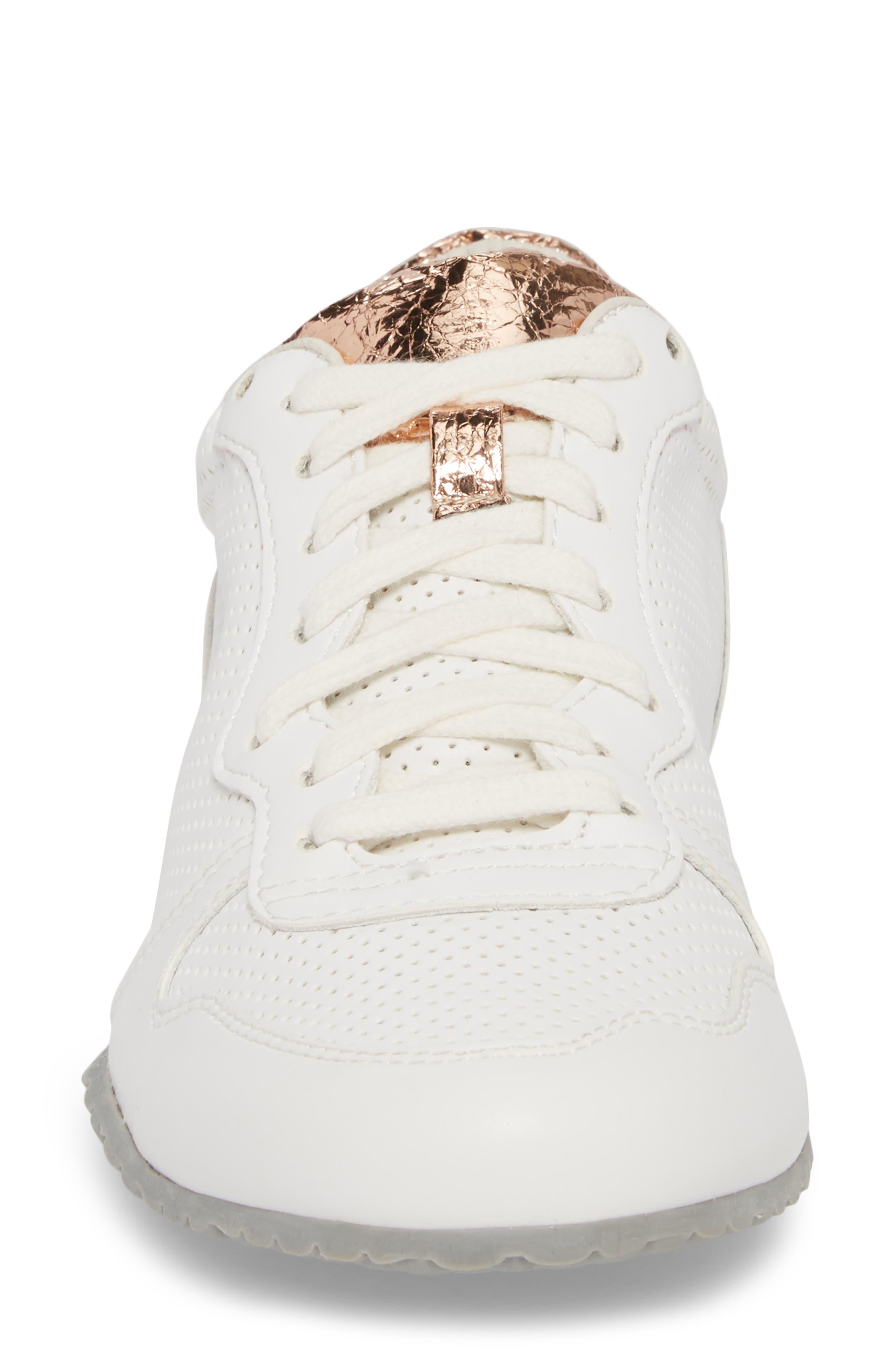 Joanna Perforated Sneaker,                             Alternate thumbnail 4, color,                             124