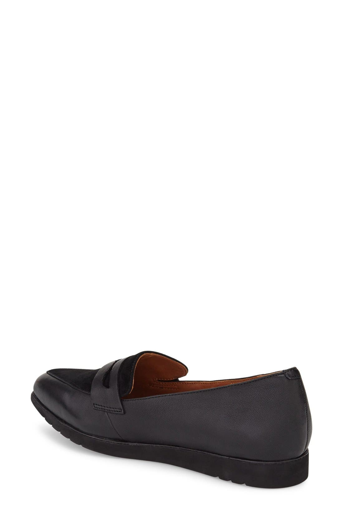 'Miamore' Pointy Toe Loafer,                             Alternate thumbnail 2, color,                             001