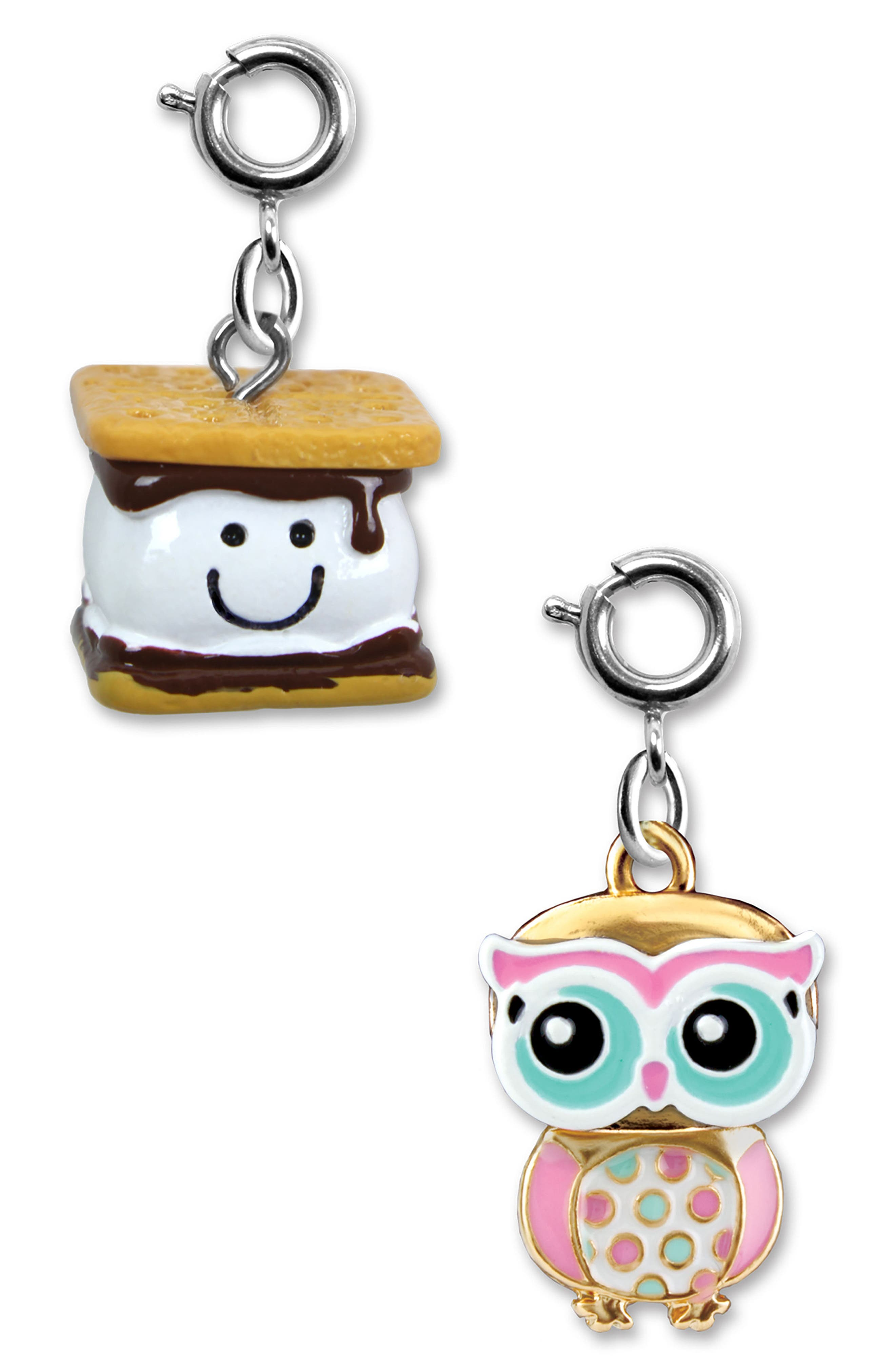 CHARM IT!<sup>®</sup> 2-Pack S'mores & Owl Charms,                             Main thumbnail 1, color,                             MULTI