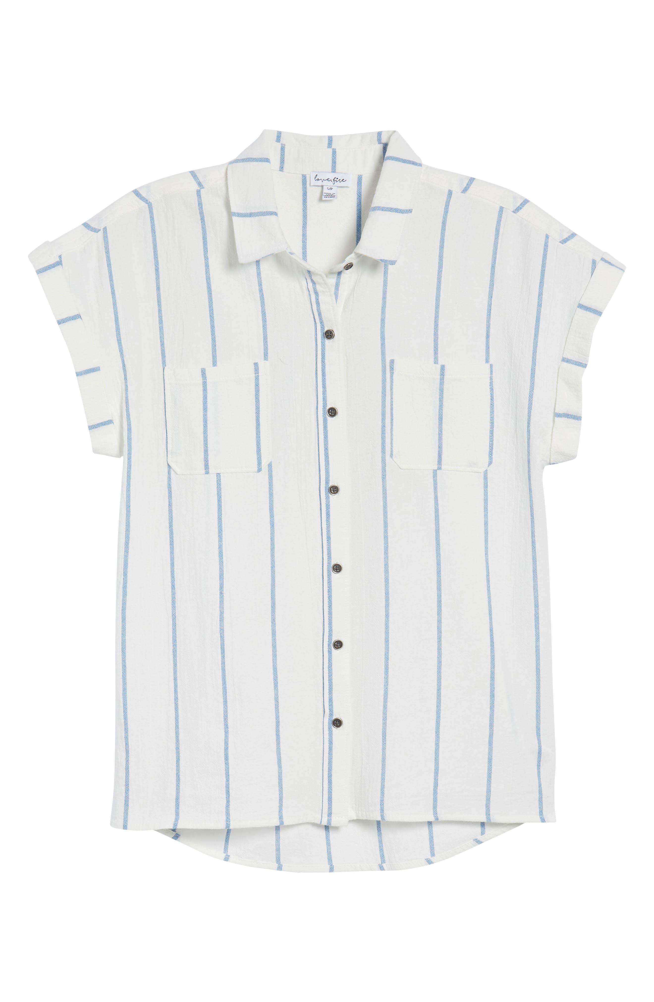 Stripe Cap Sleeve Top,                             Alternate thumbnail 6, color,                             900