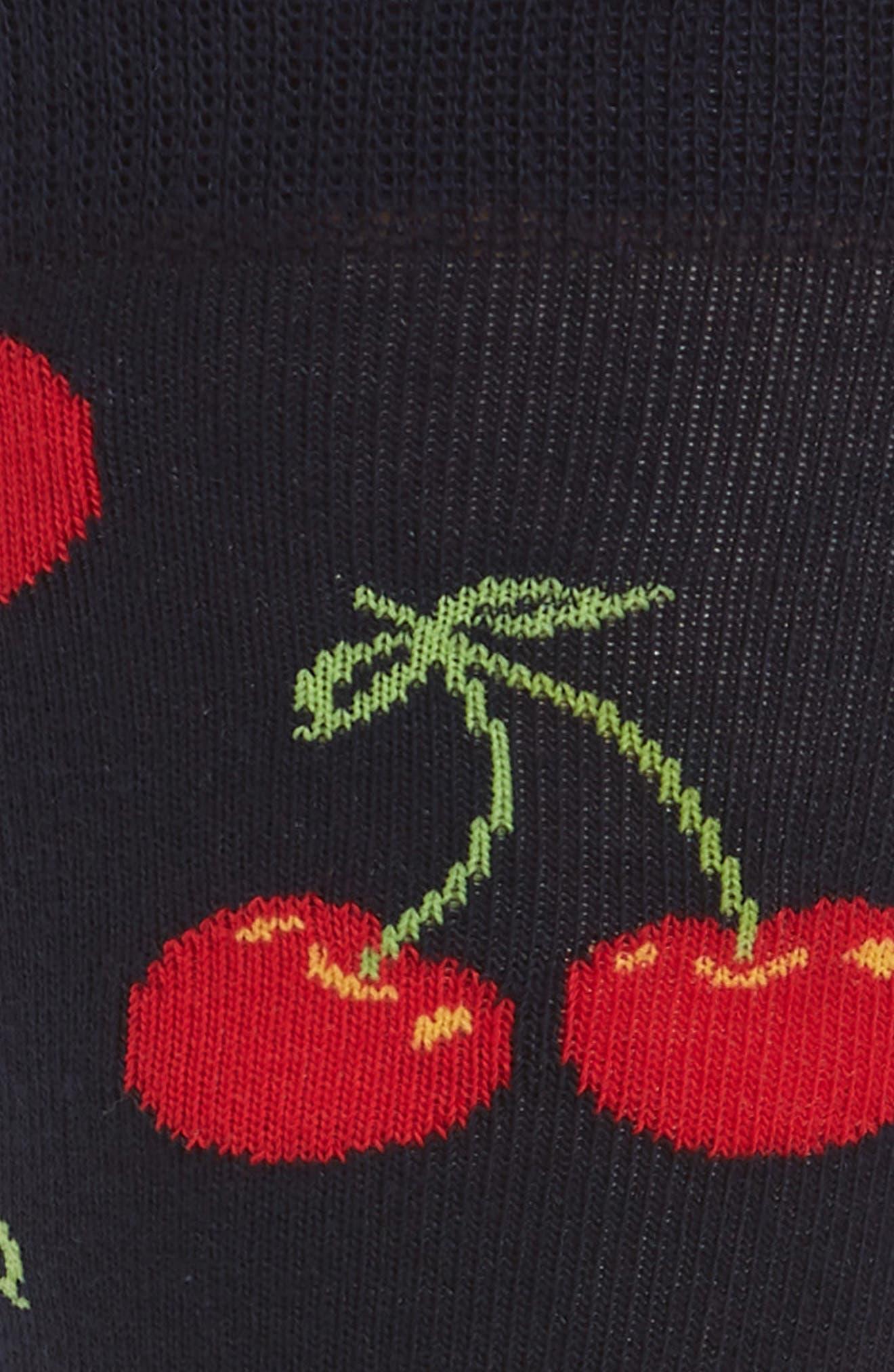 Cherry Socks,                             Alternate thumbnail 2, color,                             464