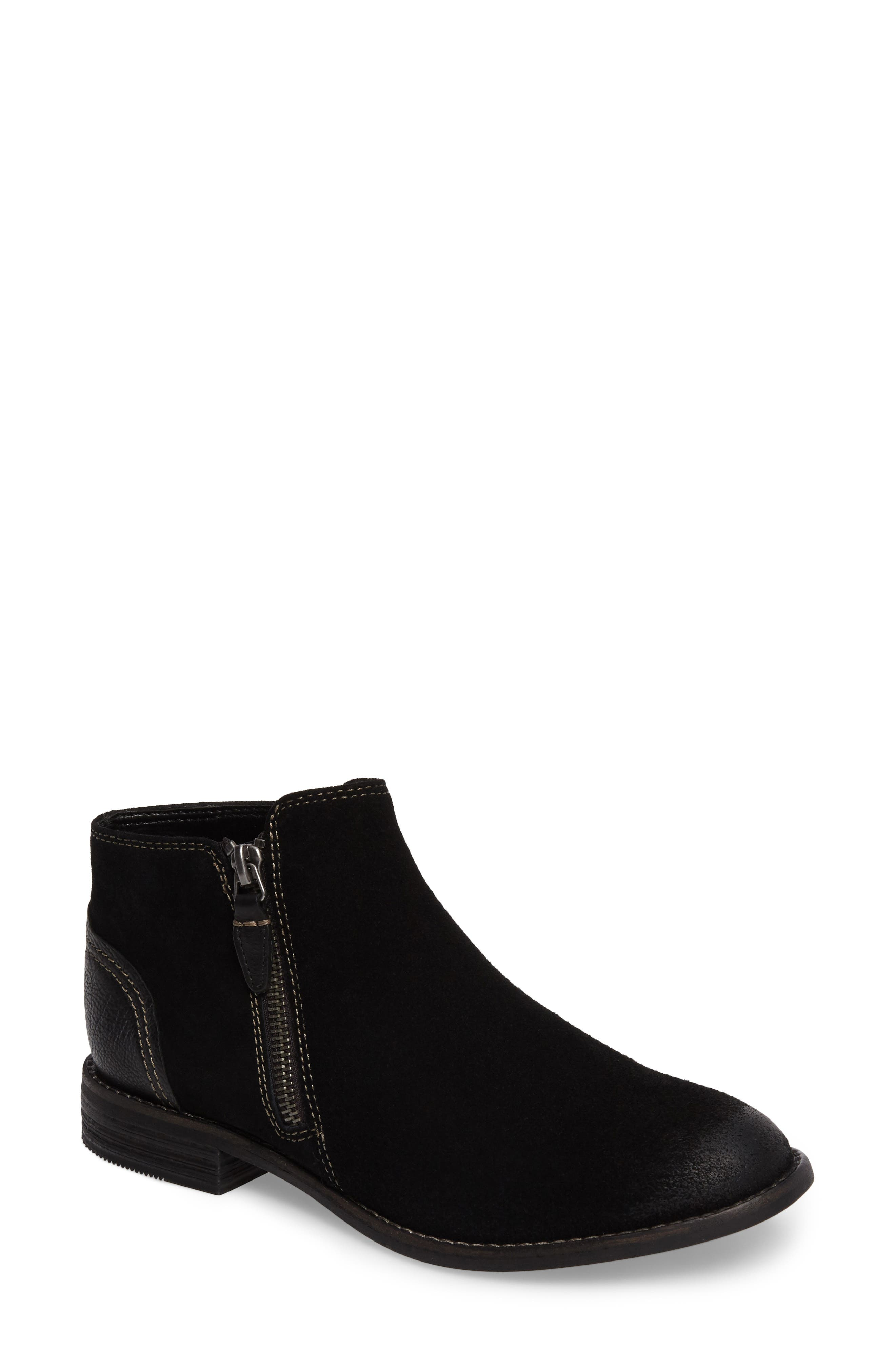 Maypearl Juno Ankle Boot,                             Main thumbnail 1, color,                             BLACK SUEDE