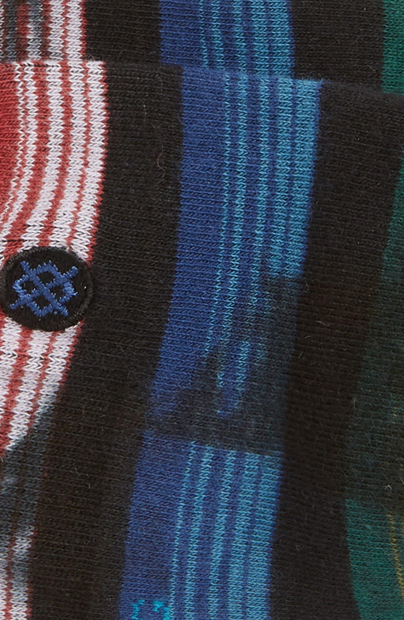 Rue Low Socks,                             Alternate thumbnail 2, color,                             BLACK