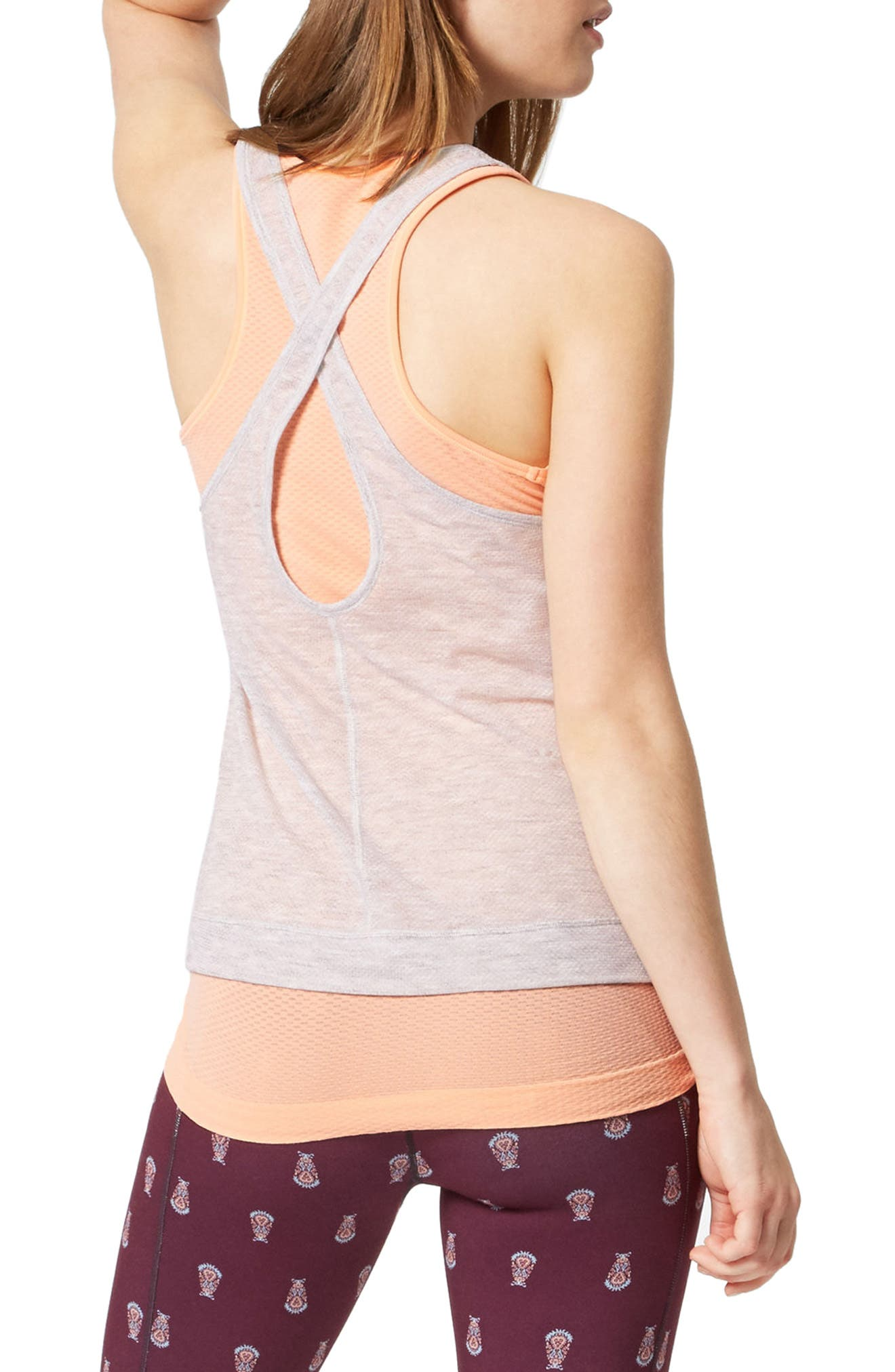 Sweat Betty Double Time Seamless Tank,                             Alternate thumbnail 2, color,