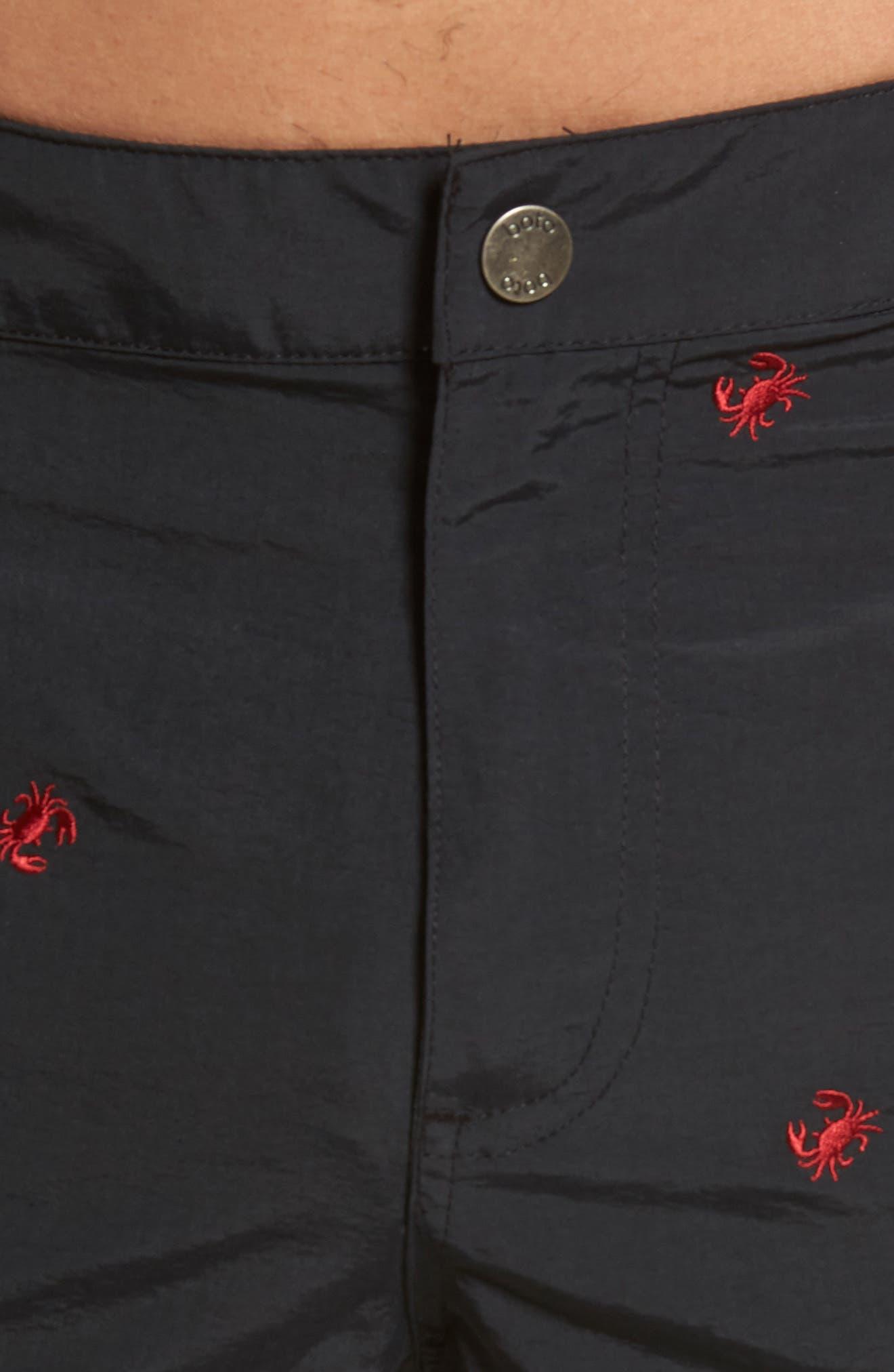 BOTO,                             Aruba Crab Swim Trunks,                             Alternate thumbnail 4, color,                             001