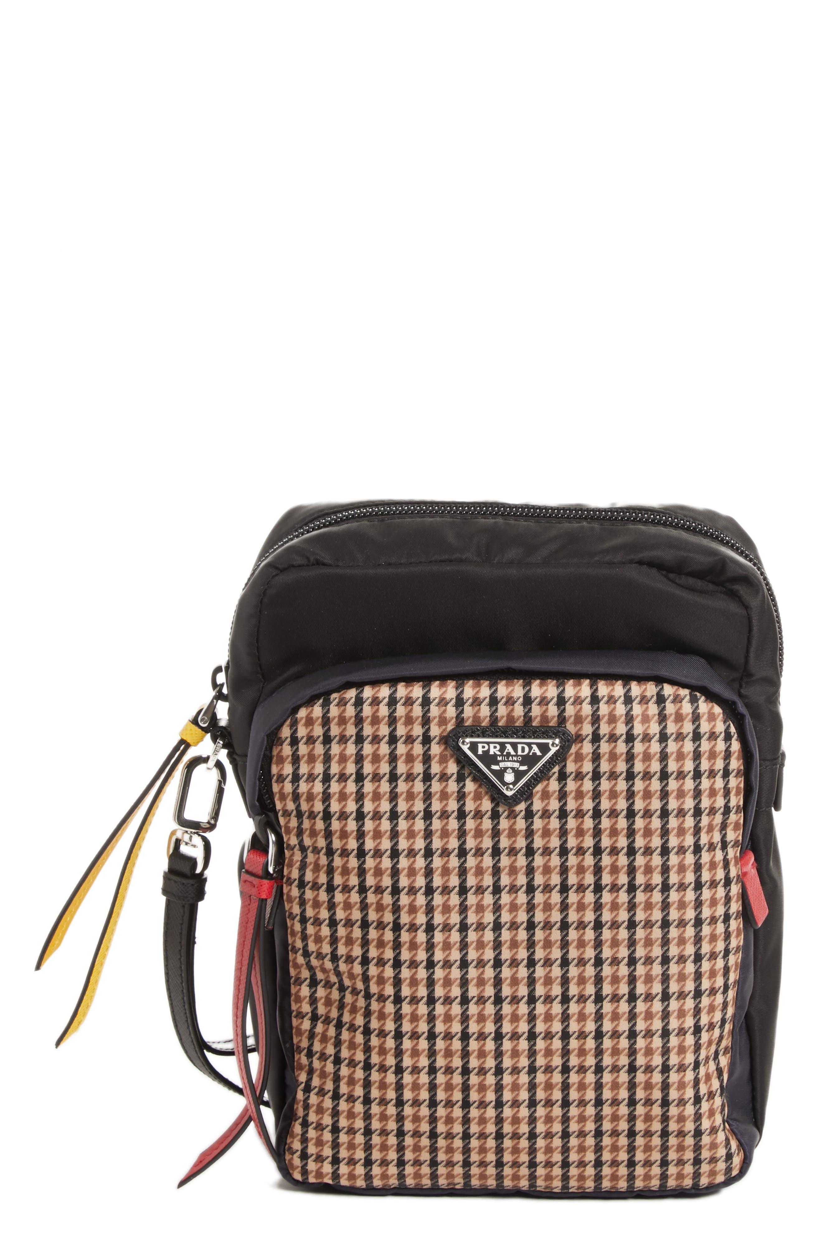 Tessudo Nylon Wrist Bag,                         Main,                         color, CAMEL