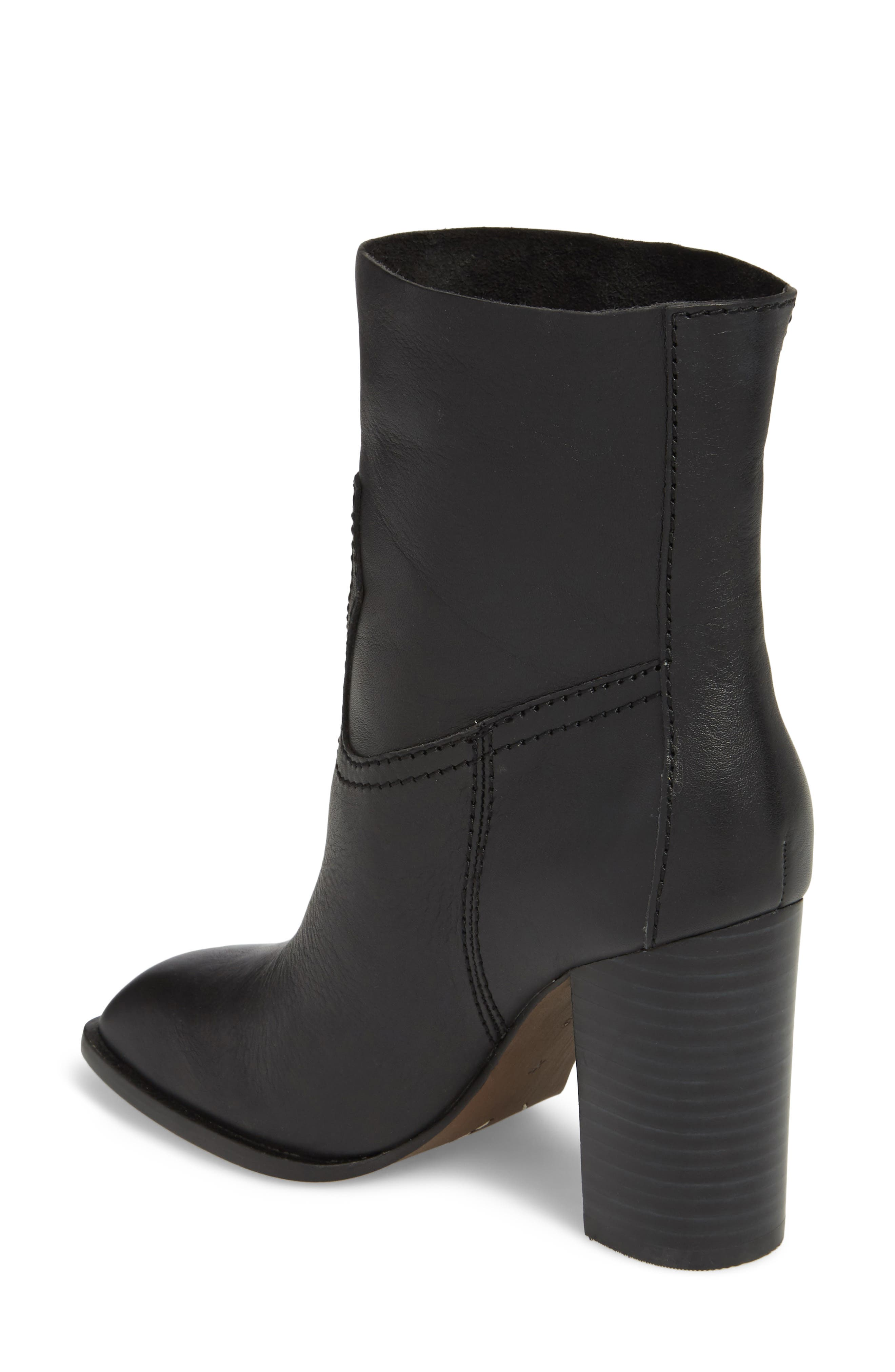 Nero Bootie,                             Alternate thumbnail 2, color,                             BLACK LEATHER