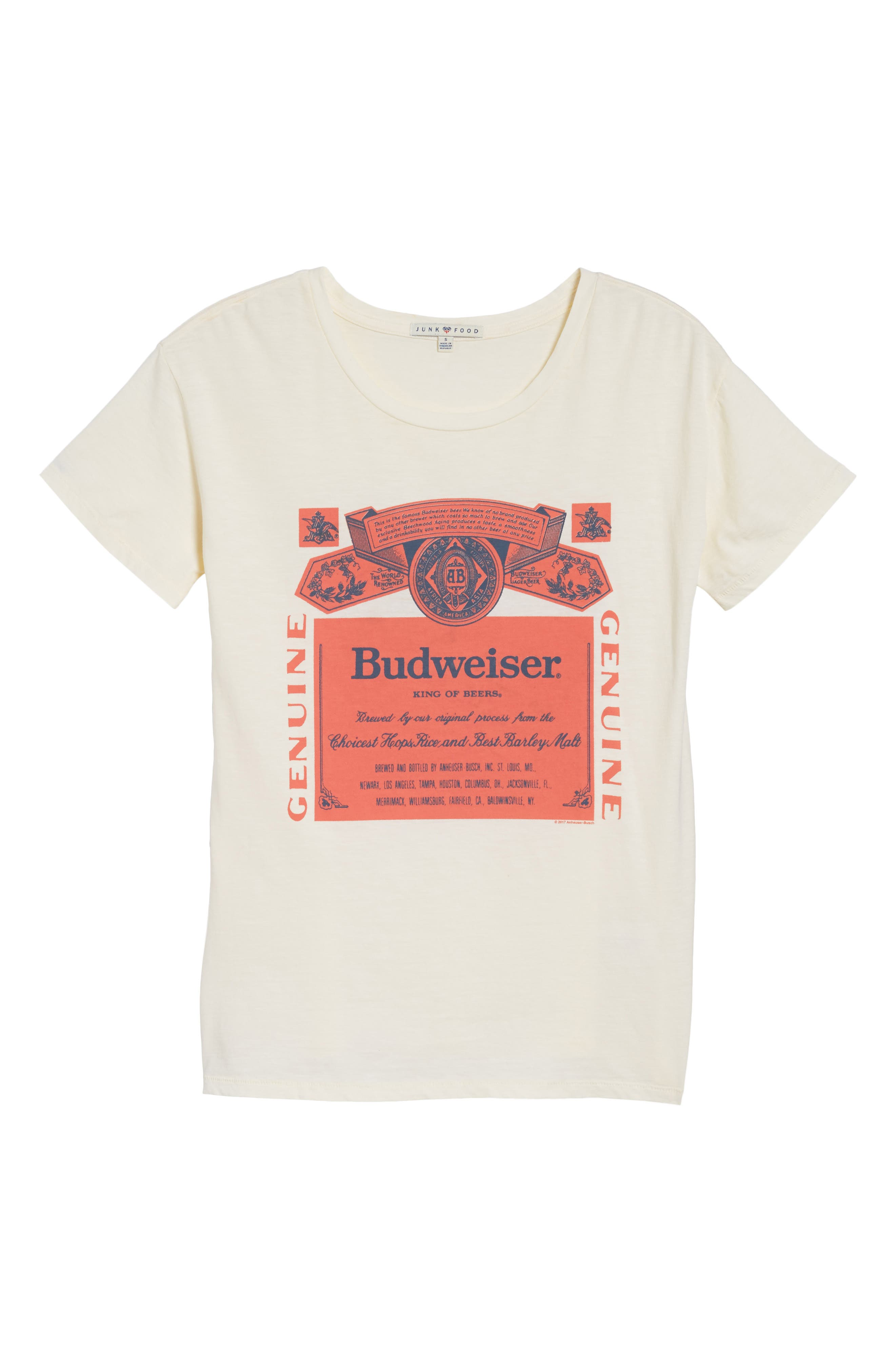 Budweiser Tee,                             Alternate thumbnail 6, color,                             IVORY