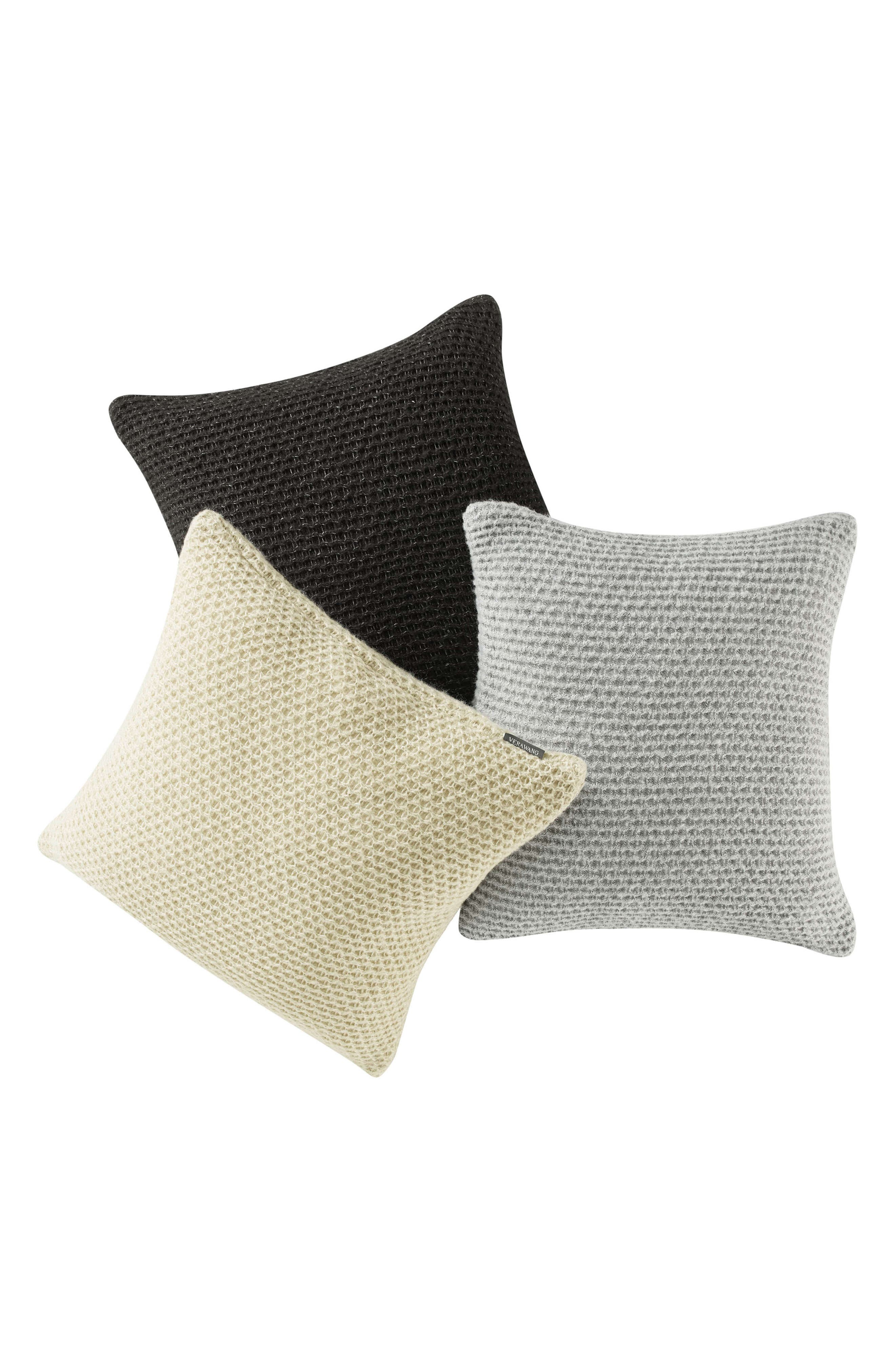 Marled Knit Accent Pillow,                             Alternate thumbnail 2, color,                             SOOT