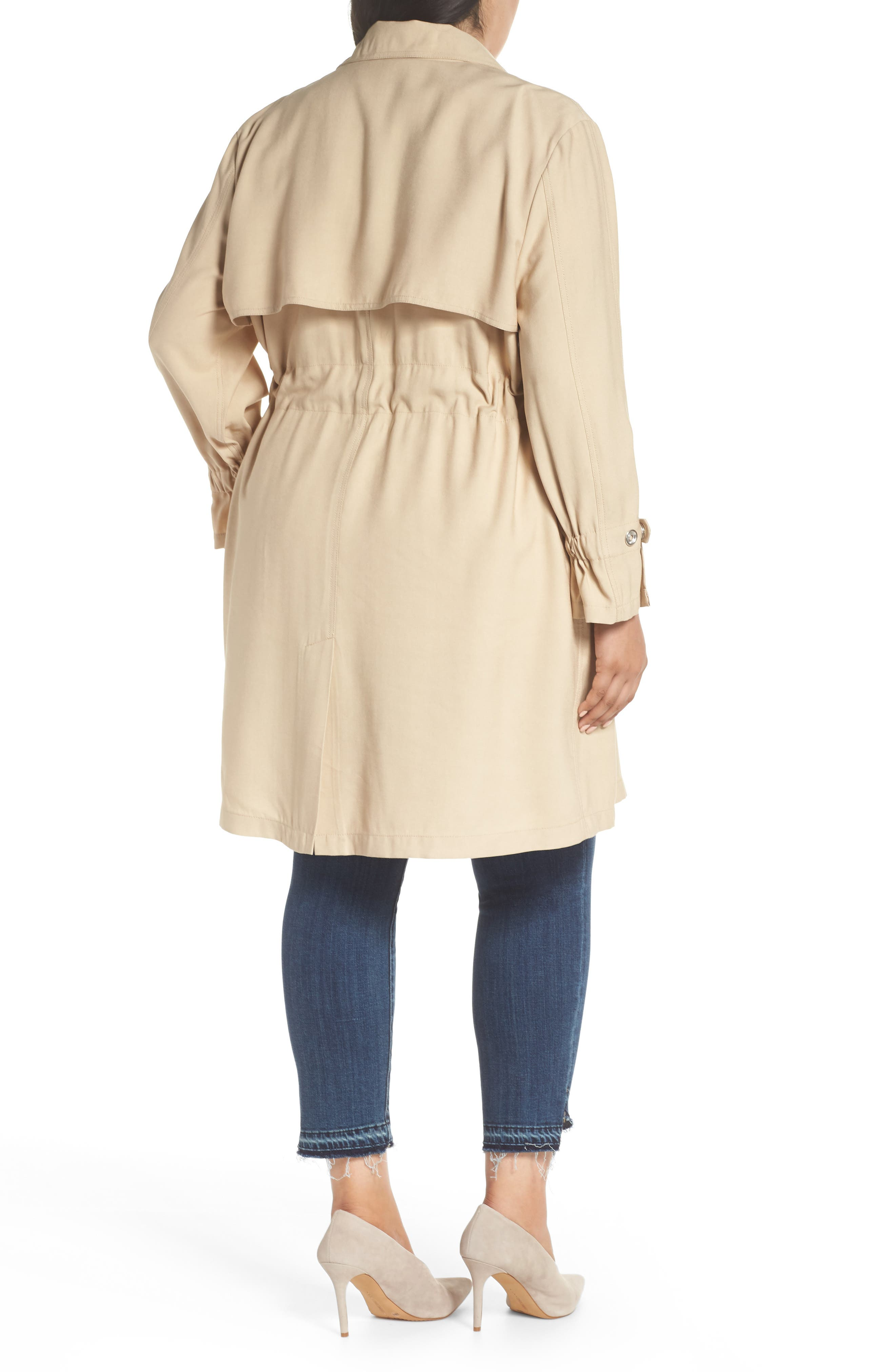 REBEL WILSON X ANGELS,                             Draped Trench Jacket,                             Alternate thumbnail 2, color,                             251