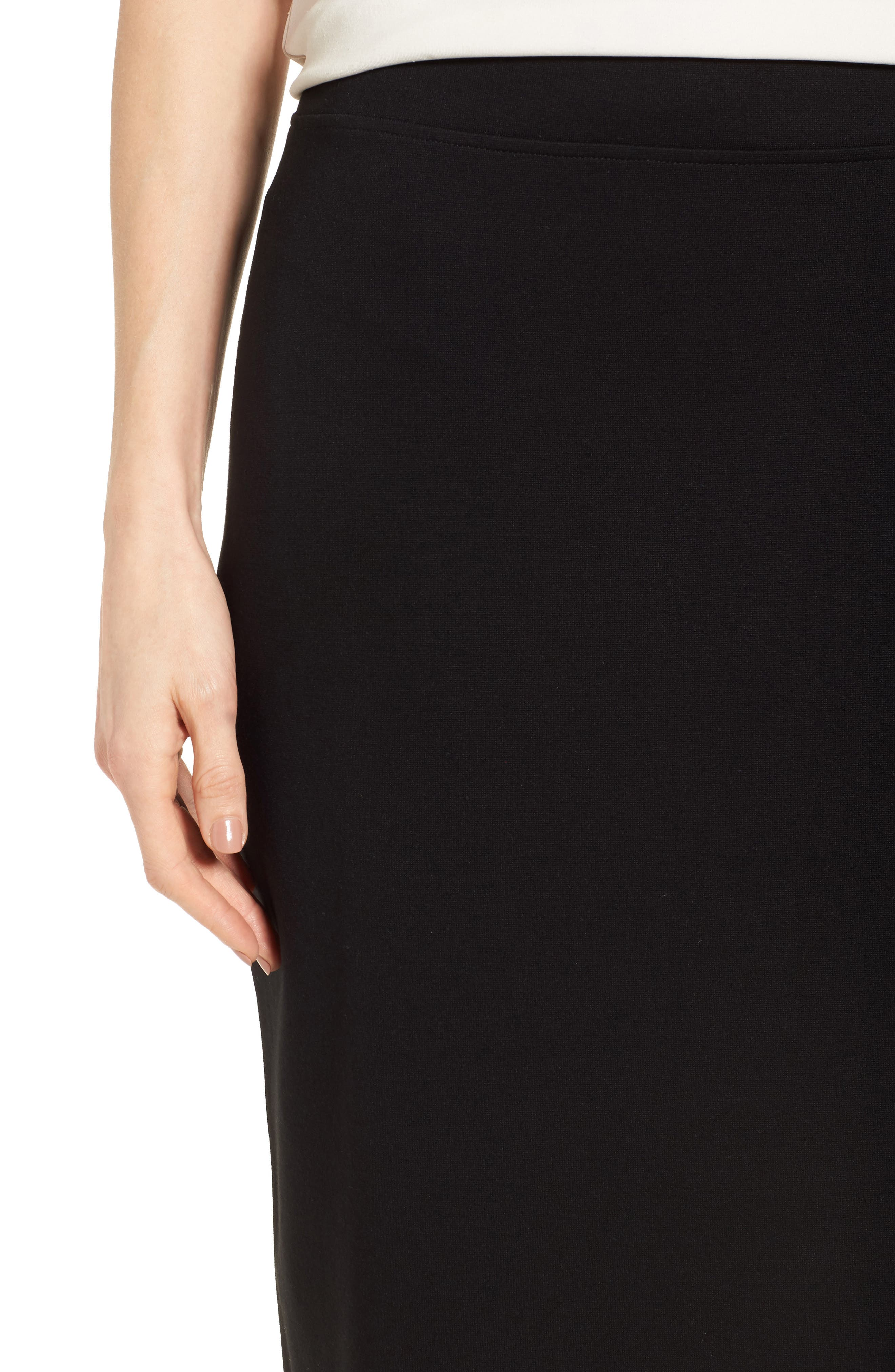 Tencel<sup>®</sup> Lyocell Blend Knit Pencil Skirt,                             Alternate thumbnail 4, color,