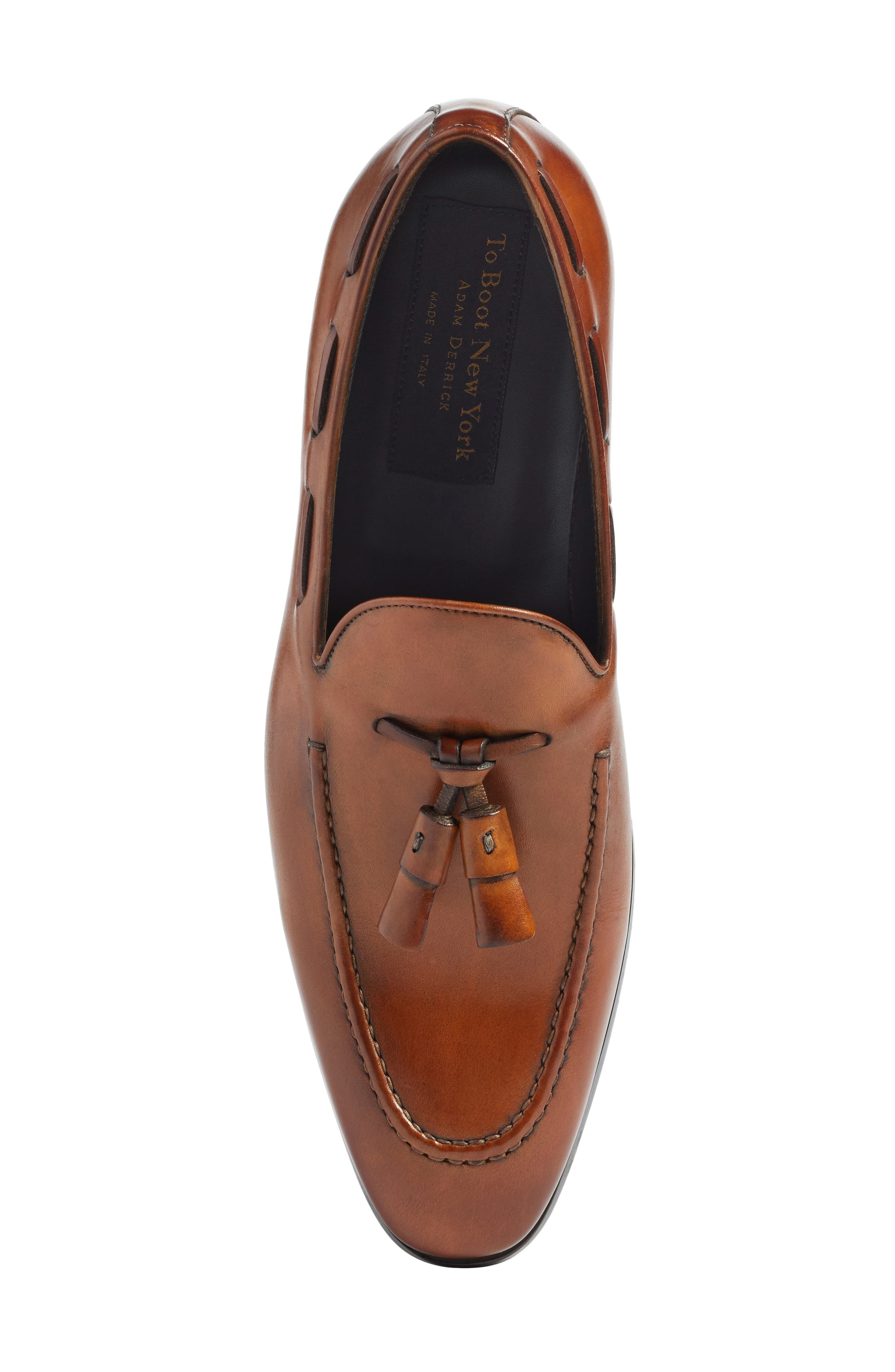 Barclay Tassel Loafer,                             Alternate thumbnail 5, color,                             COGNAC LEATHER