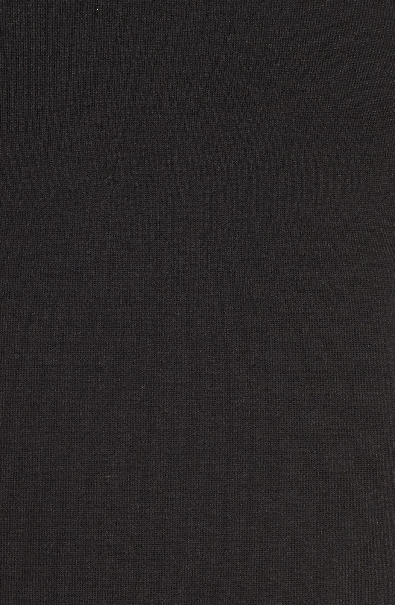 Tassel Midi Dress,                             Alternate thumbnail 5, color,                             001