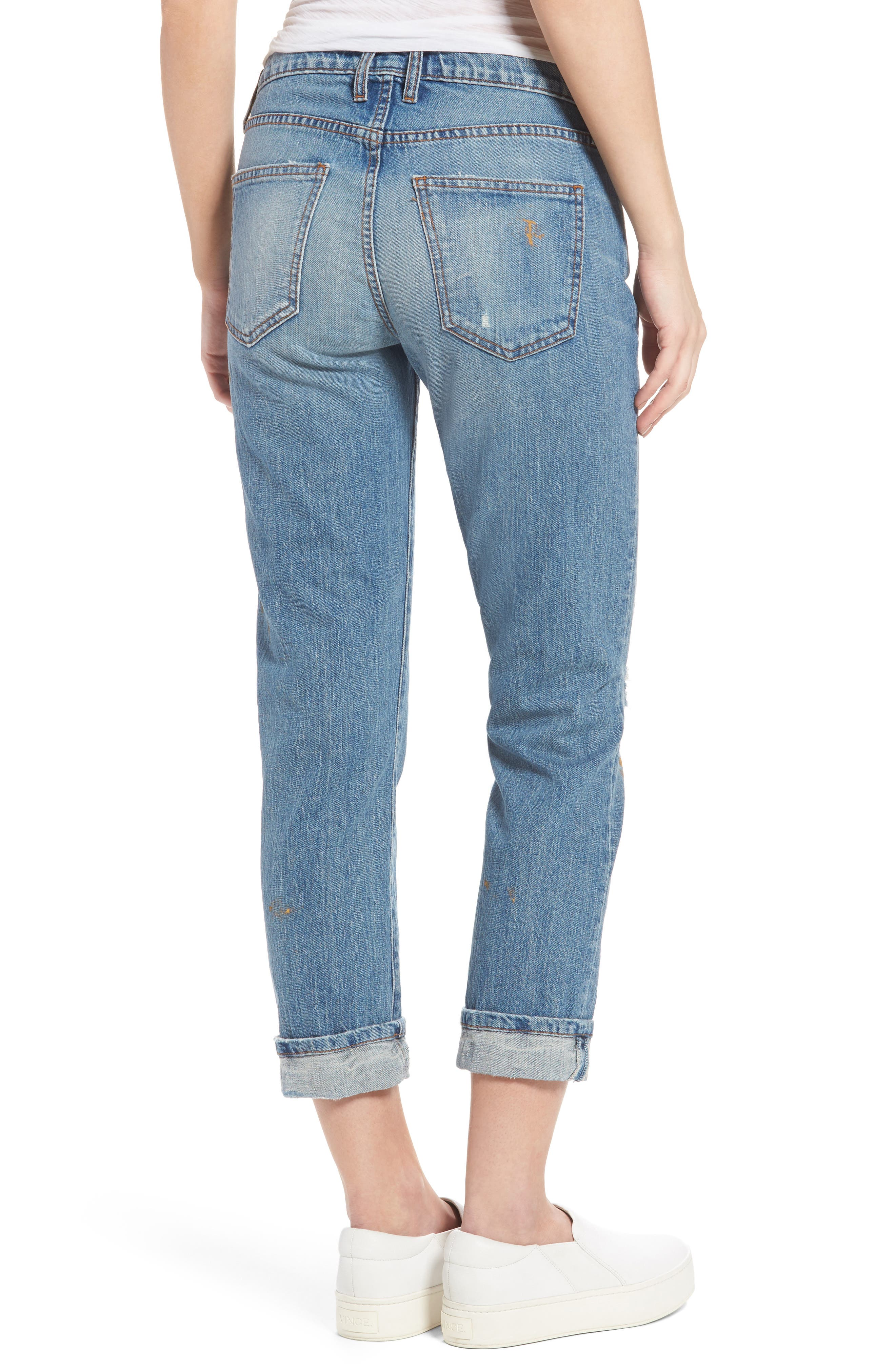 Fling Distressed Rolled Jeans,                             Alternate thumbnail 2, color,                             469