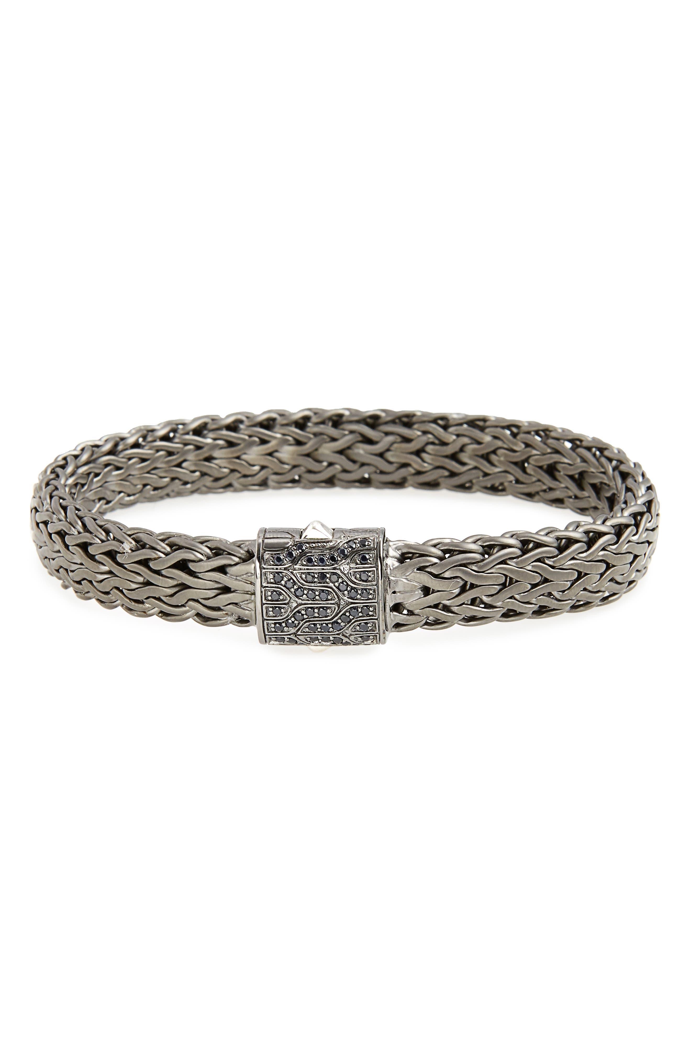 Men's Classic Chain Bracelet,                             Main thumbnail 1, color,                             BLACK