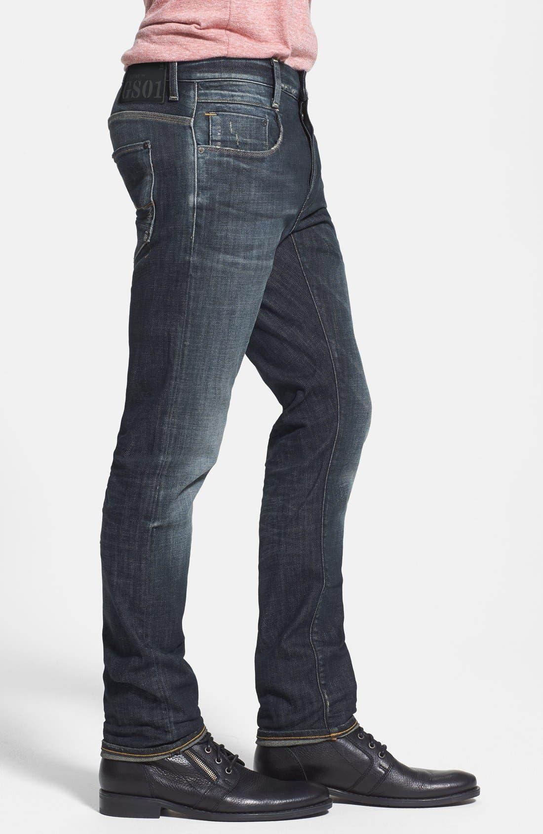 'New Radar' Slim Fit Jeans,                             Alternate thumbnail 3, color,                             404